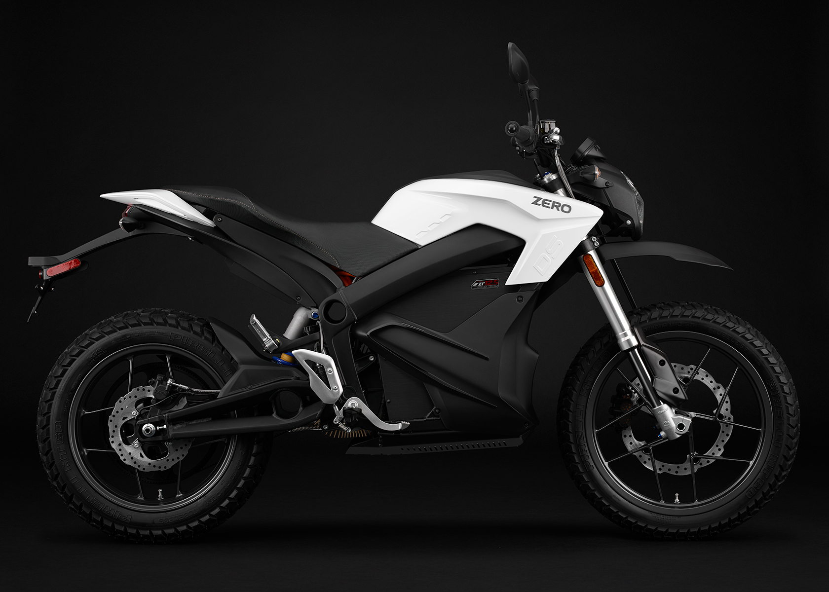 2015 Zero DS Electric Motorcycle: White Profile Right