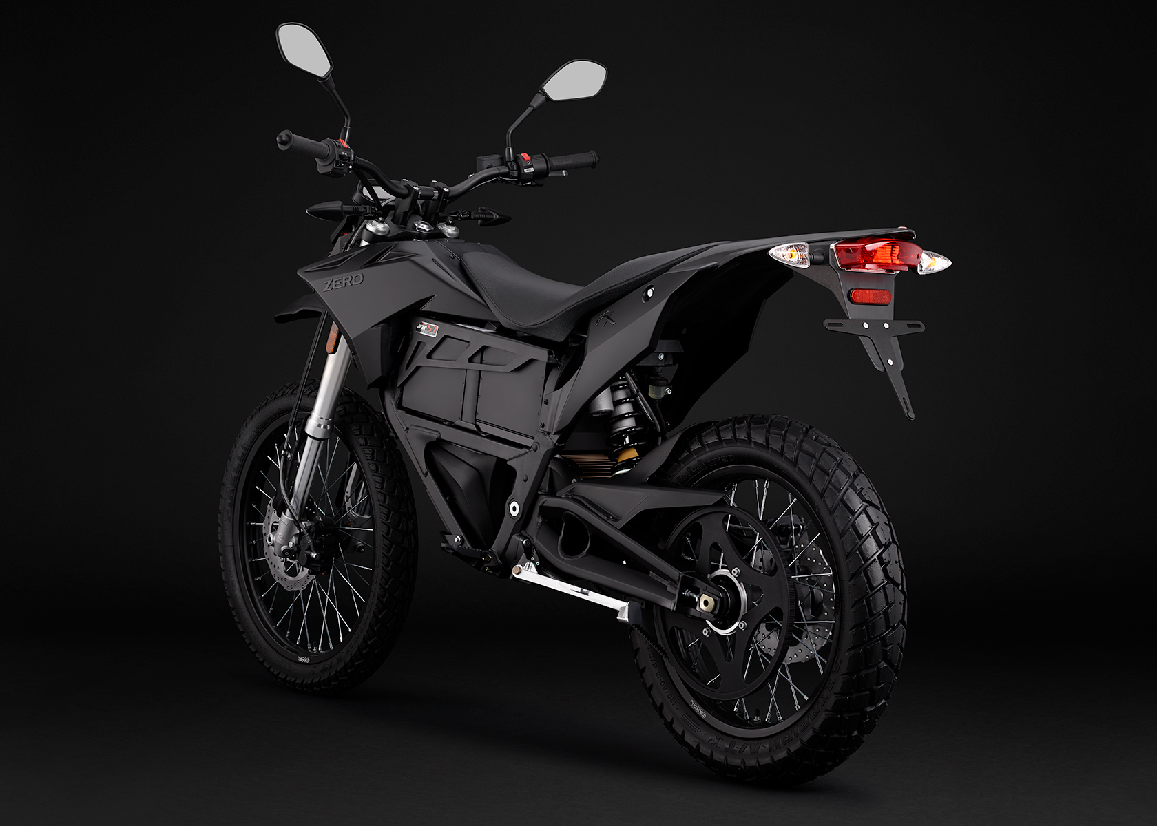 2015 Zero FX Electric Motorcycle: Black Angle Left