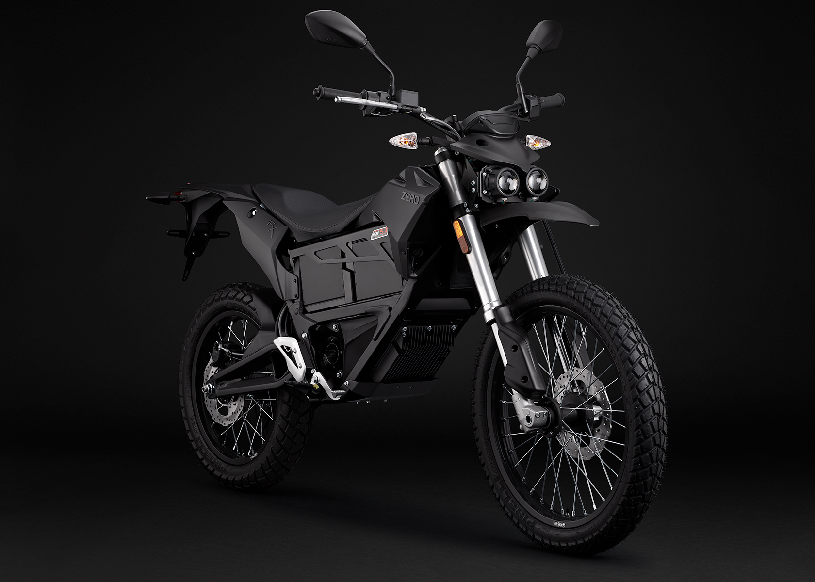 2015 Zero FX Electric Motorcycle: Black Angle Right