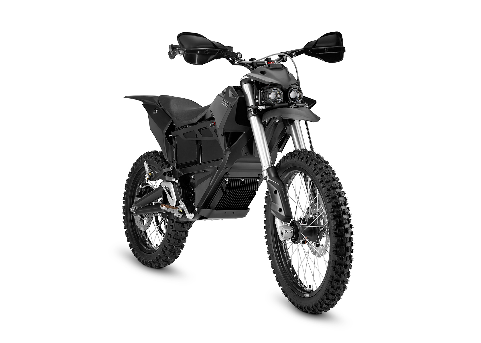 2015 Zero MMX Electric Motorcycle: Right Angle, White Background