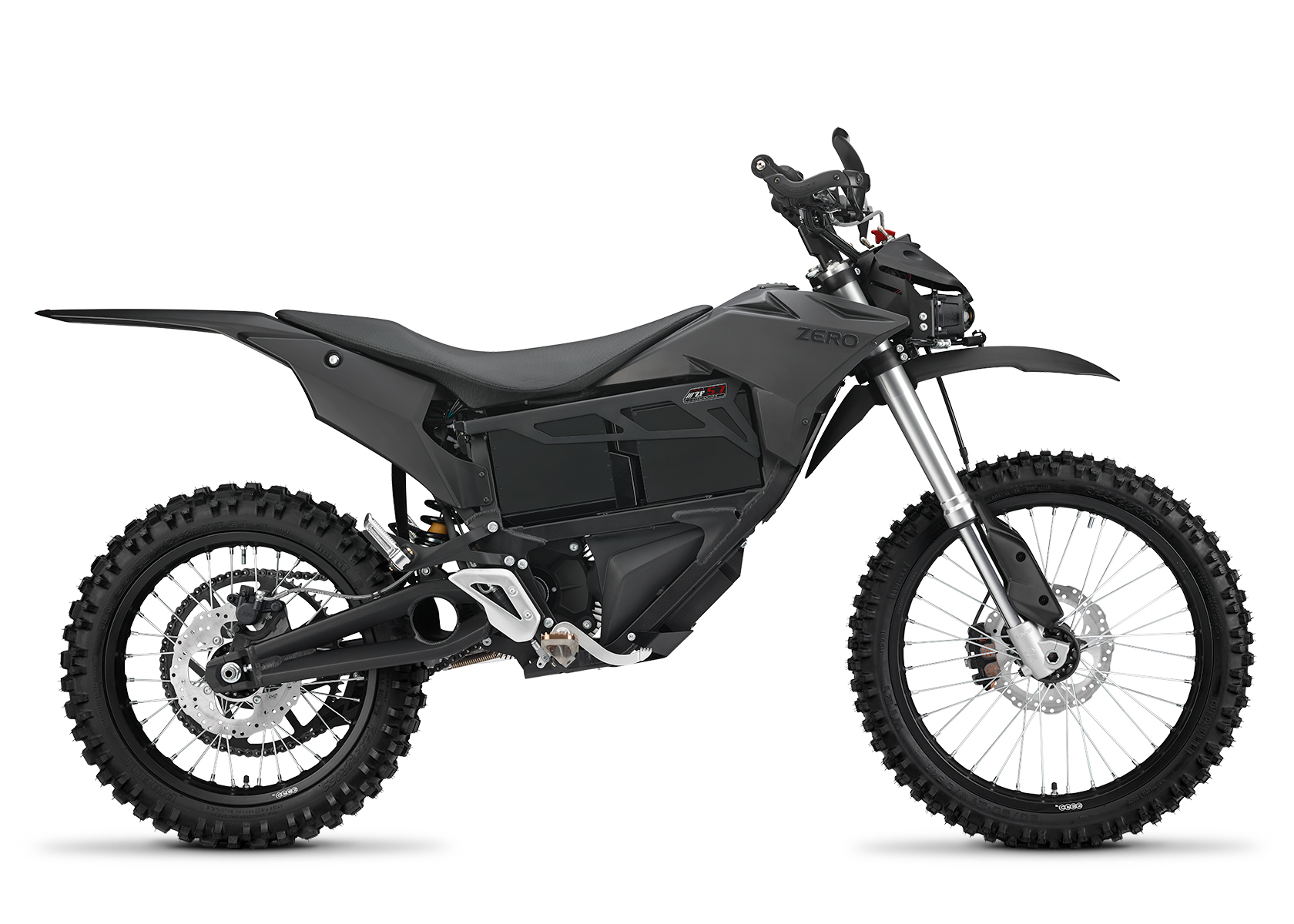 2015 Zero MMX Electric Motorcycle: Right profile, White Background