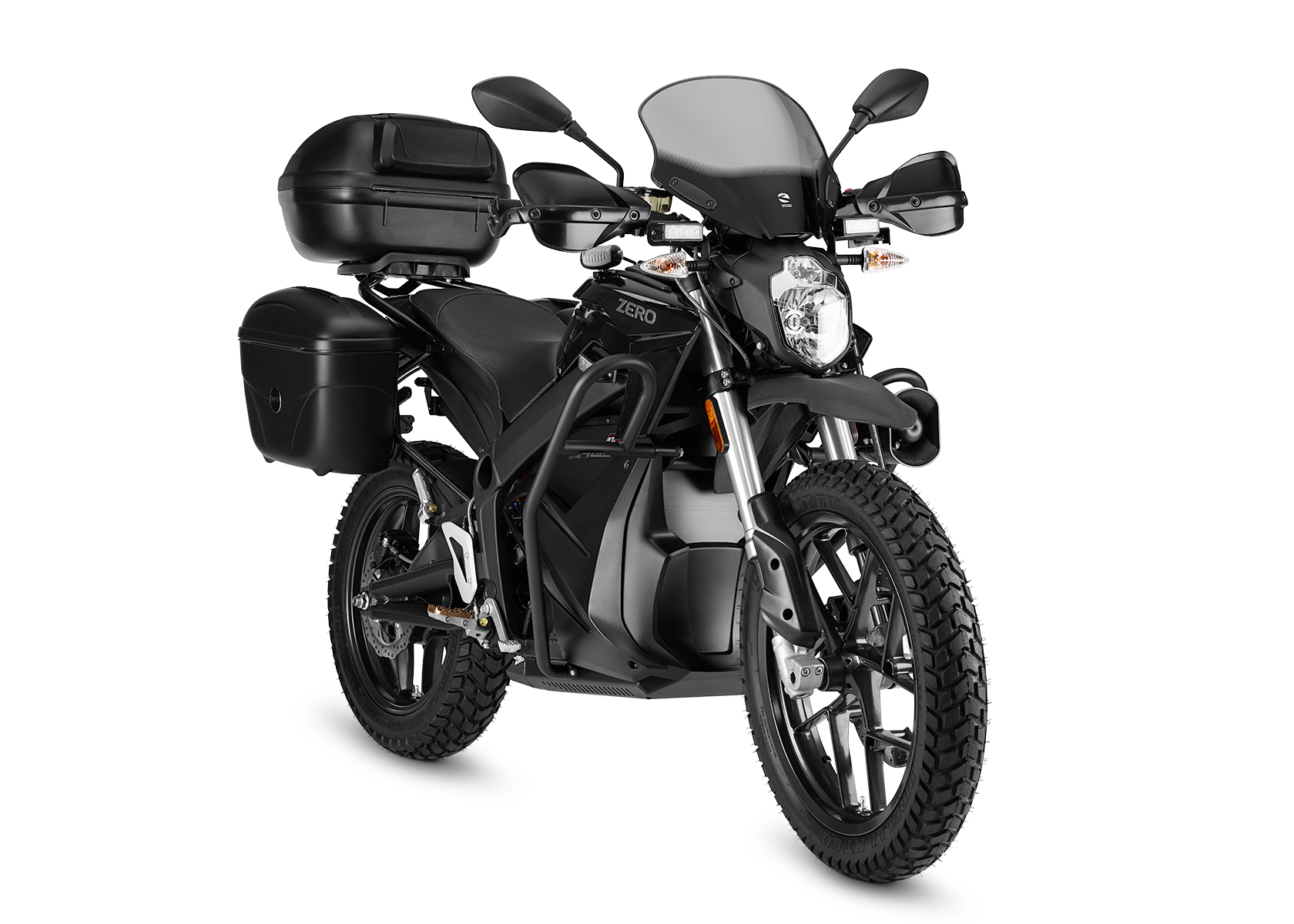 2015 Zero DSP Electric Motorcycle: Right angle, White Background