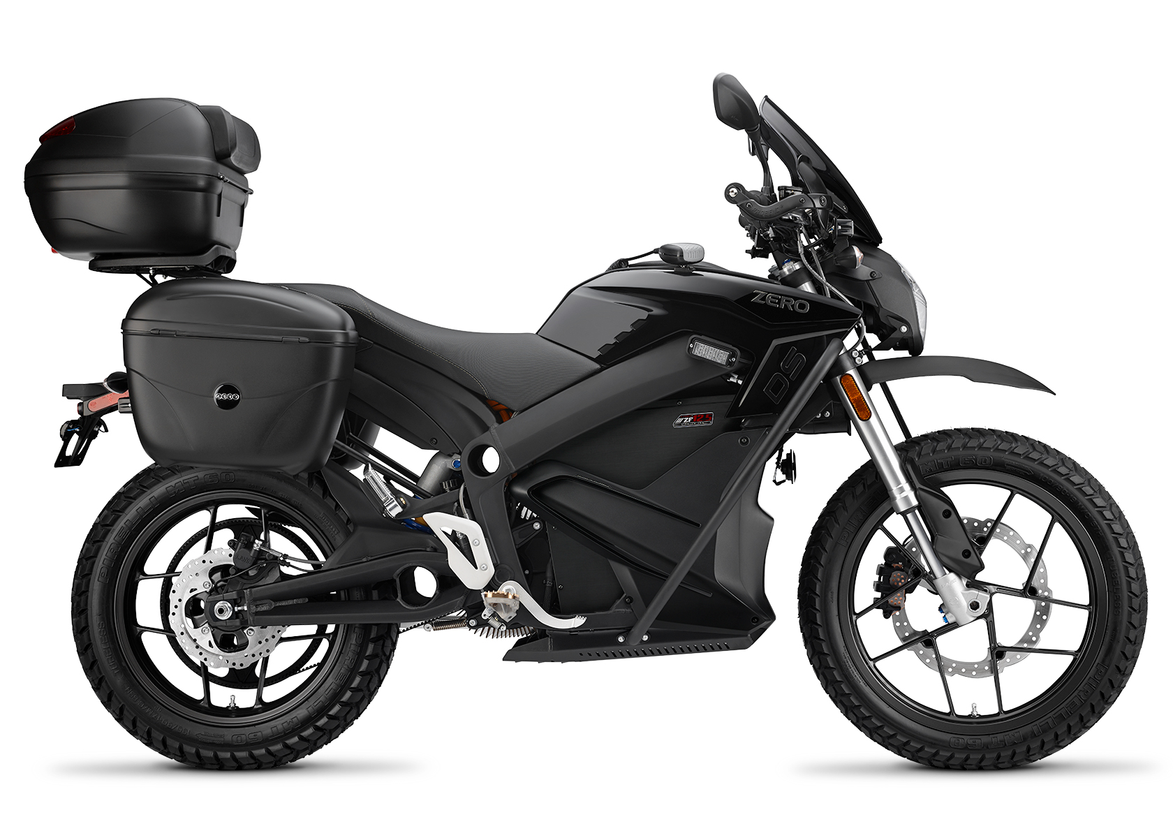 2015 Zero DSP Electric Motorcycle: Right profile, White Background