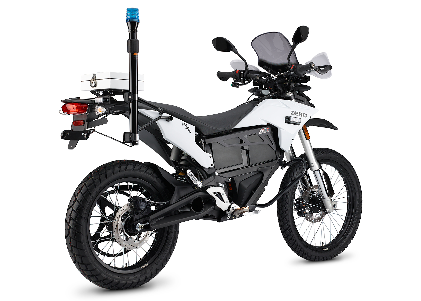 2015 Zero FXP Electric Motorcycle: Left Angle, White Background