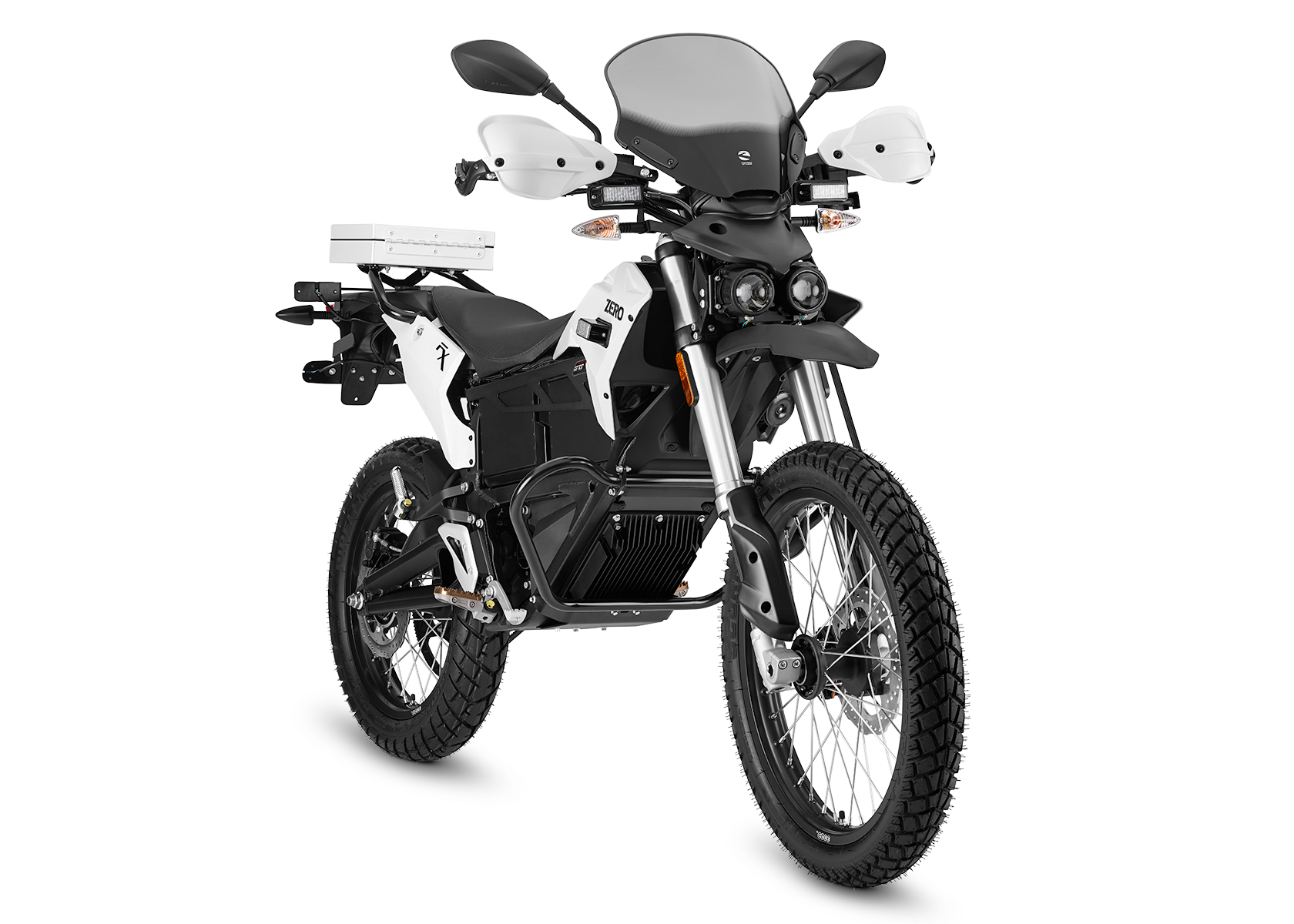 2015 Zero FXP Electric Motorcycle: Right Angle, White Background