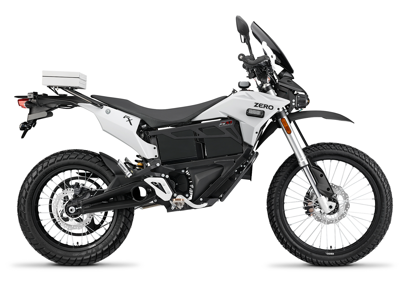 2015 Zero FXP Electric Motorcycle: Right Profile, White Background