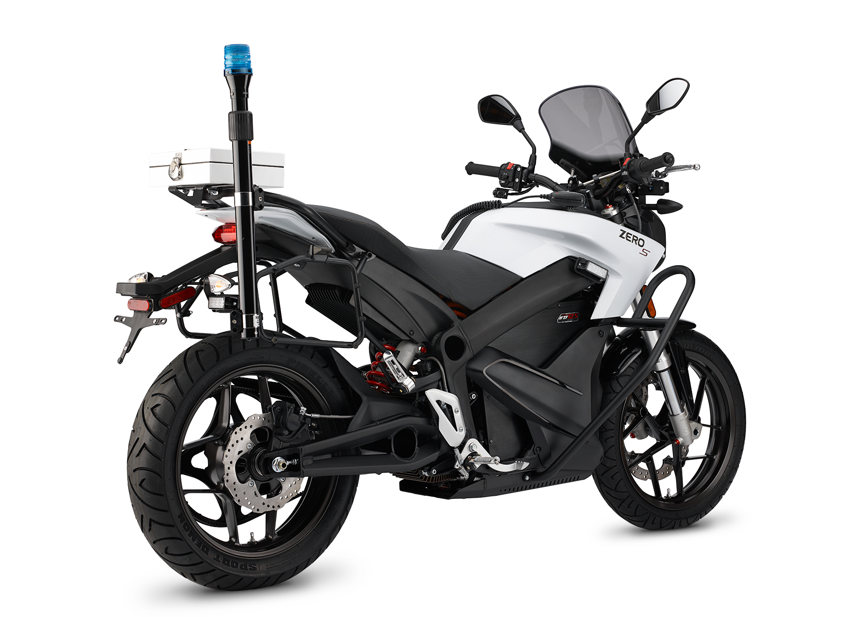 2015 Zero SP Electric Motorcycle: Left Angle, White Background