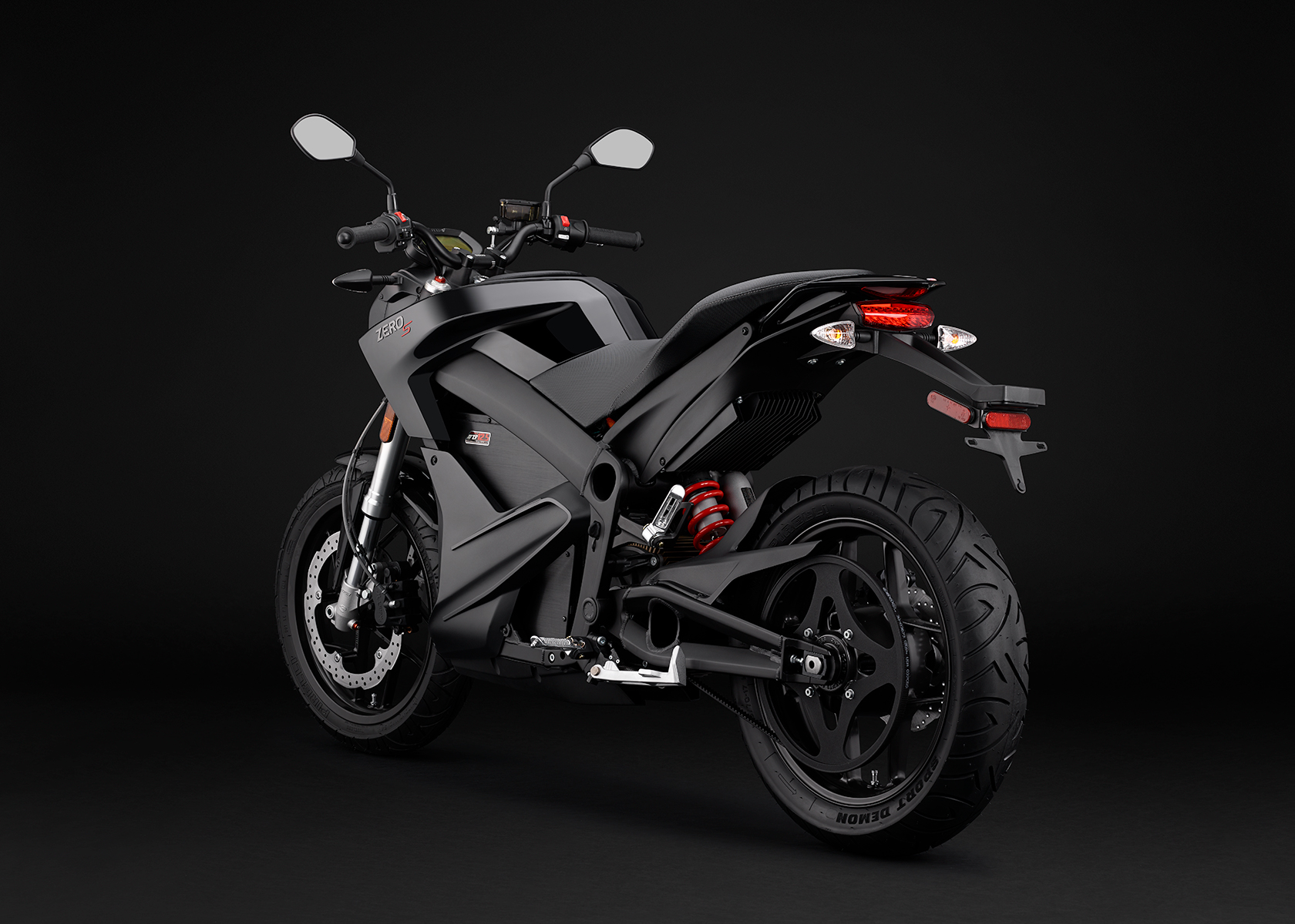 2015 Zero S Electric Motorcycle: Black Angle Left