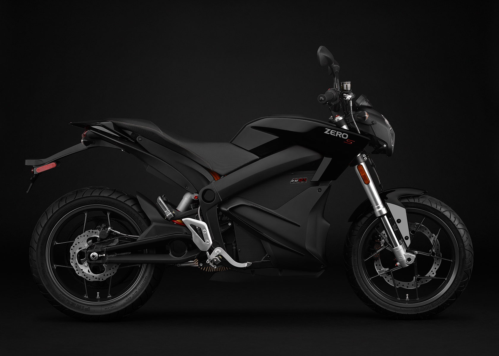 2015 Zero S Electric Motorcycle: Black Profile Right