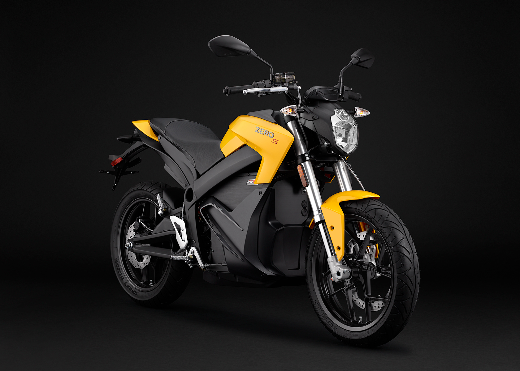 2015 Zero S Electric Motorcycle: Yellow Angle Right