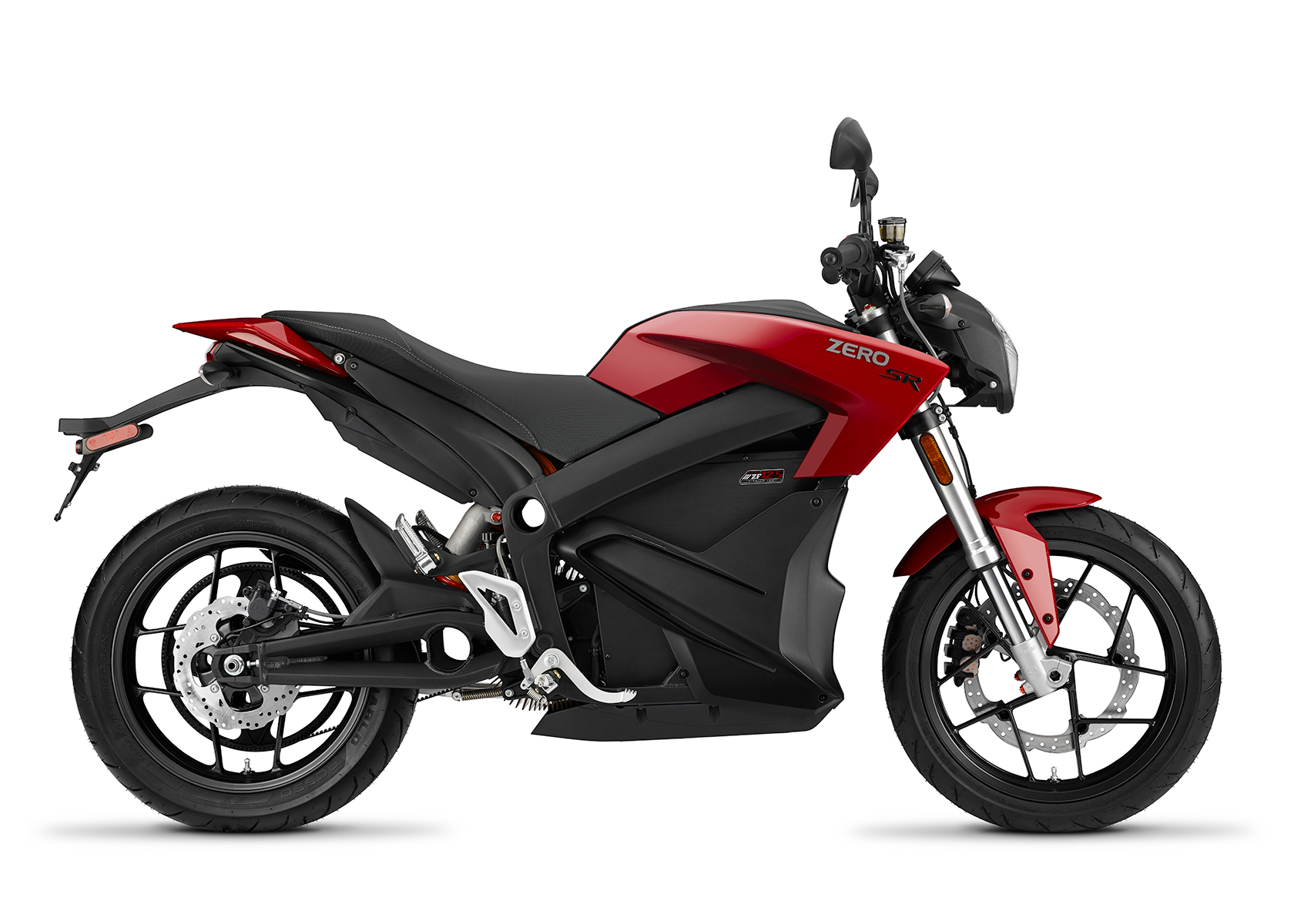 2015 Zero SR Electric Motorcycle: Profile Right, White Background