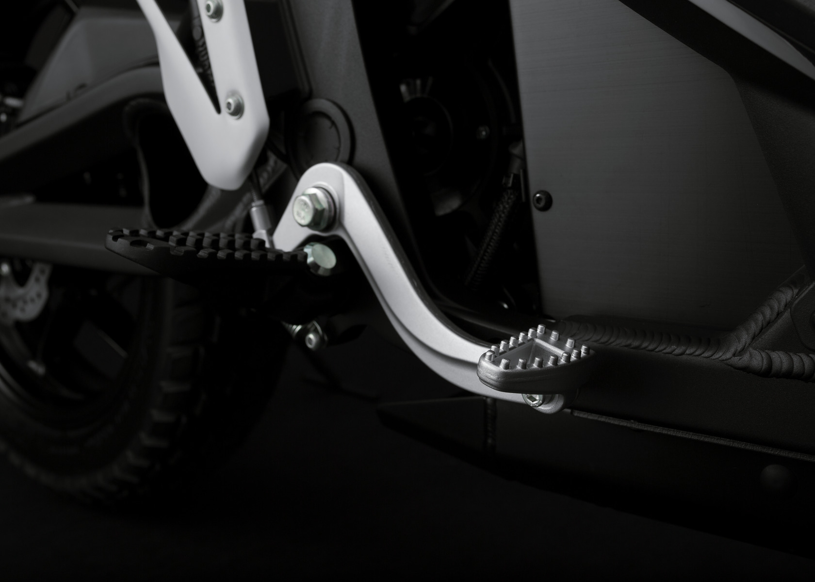 2016 Zero DSR Electric Motorcycle: Brake Pedal