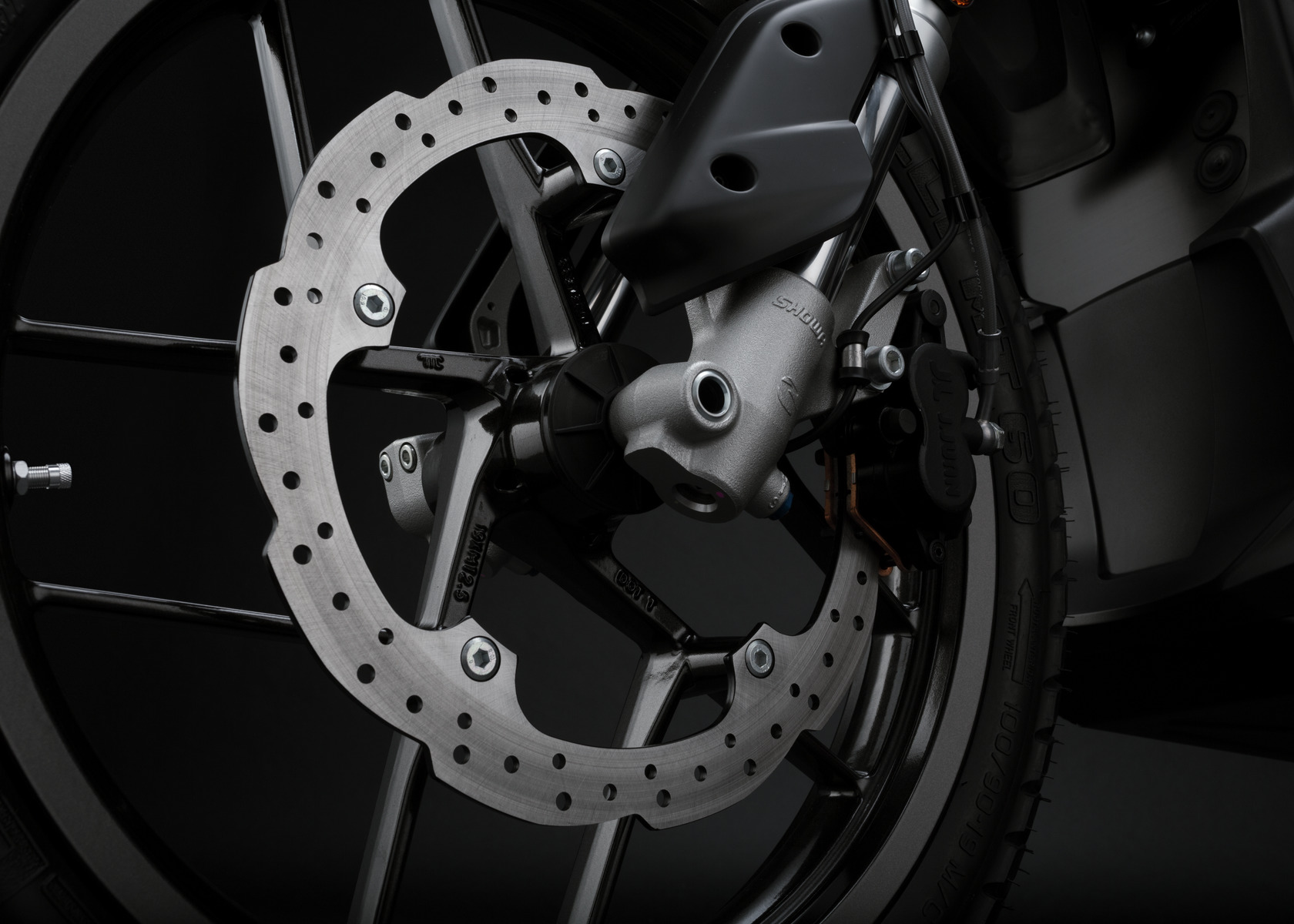 2016 Zero DSR Electric Motorcycle: Front Brake
