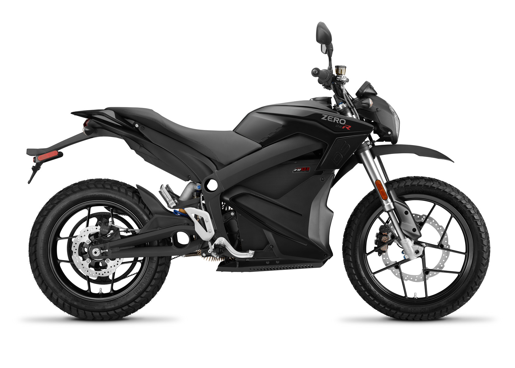 2016 Zero DSR Electric Motorcycle: Profile Right, White Background