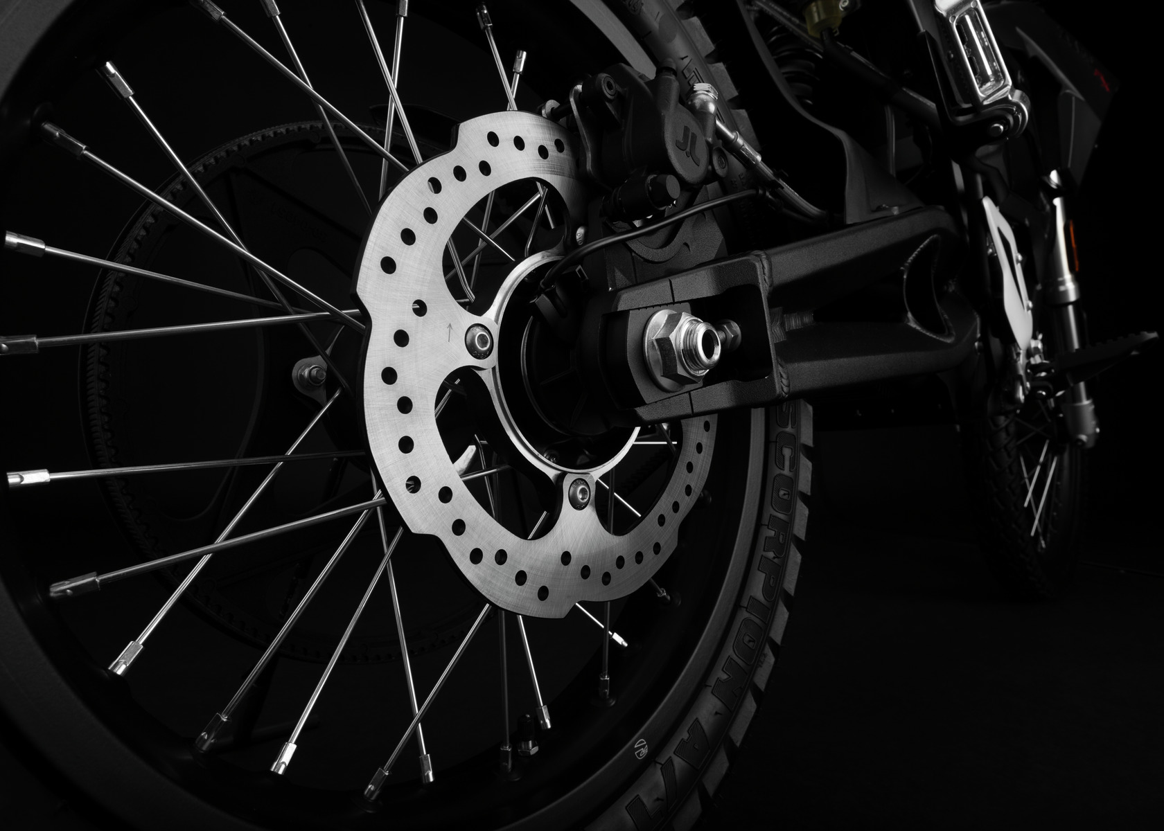 2017 Zero FX Electric Motorcycle: Rear Brake