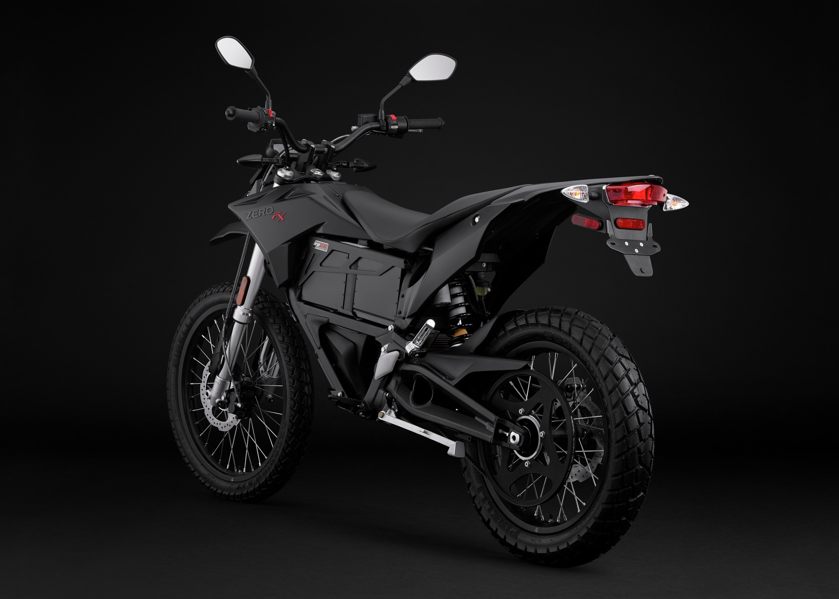 2016 Zero FX Electric Motorcycle: Black Angle Left