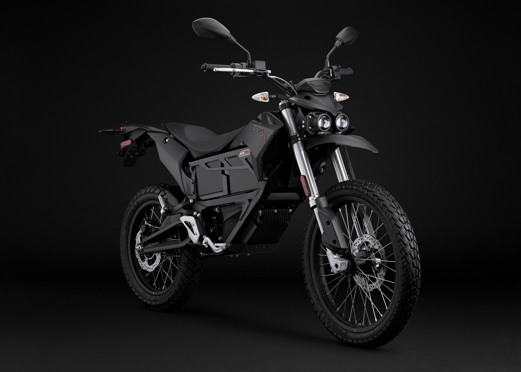 2016 Zero FX Electric Motorcycle: Black Angle Right