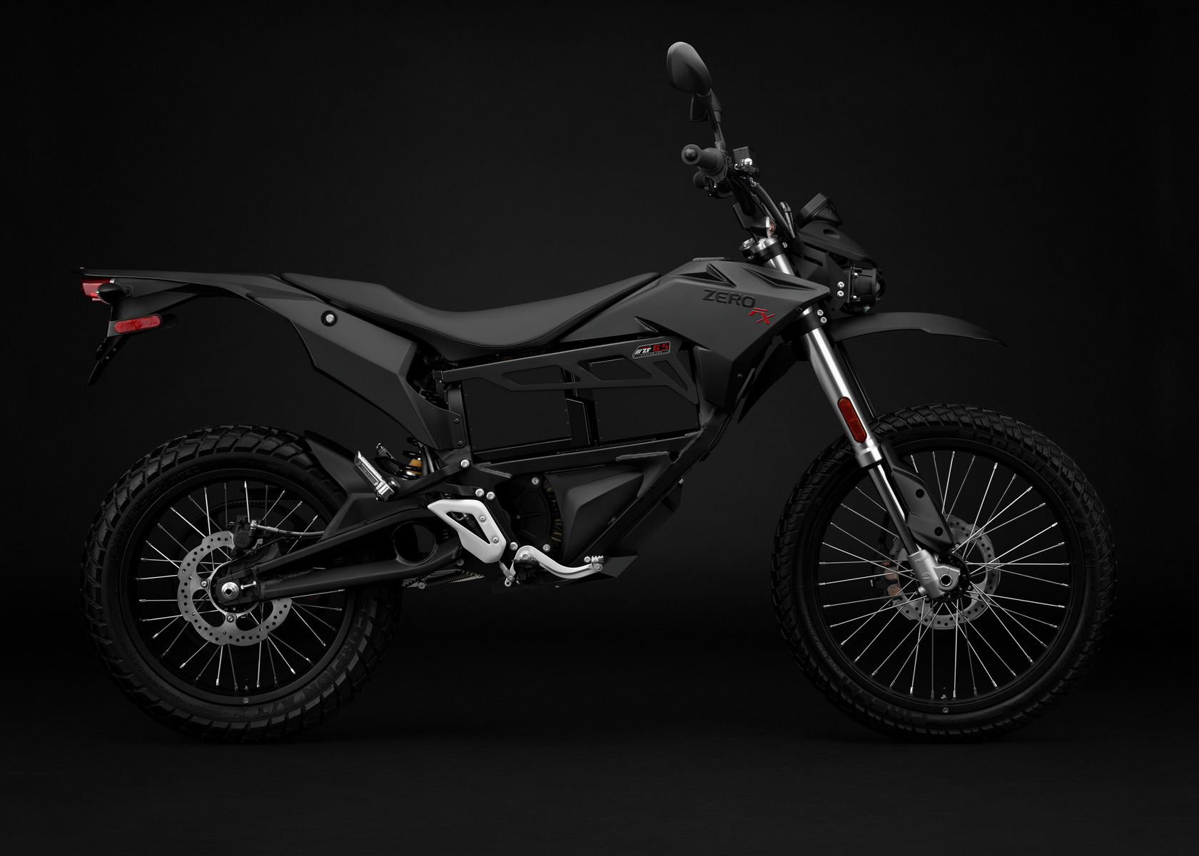2016 Zero FX Electric Motorcycle: Black Profile Right