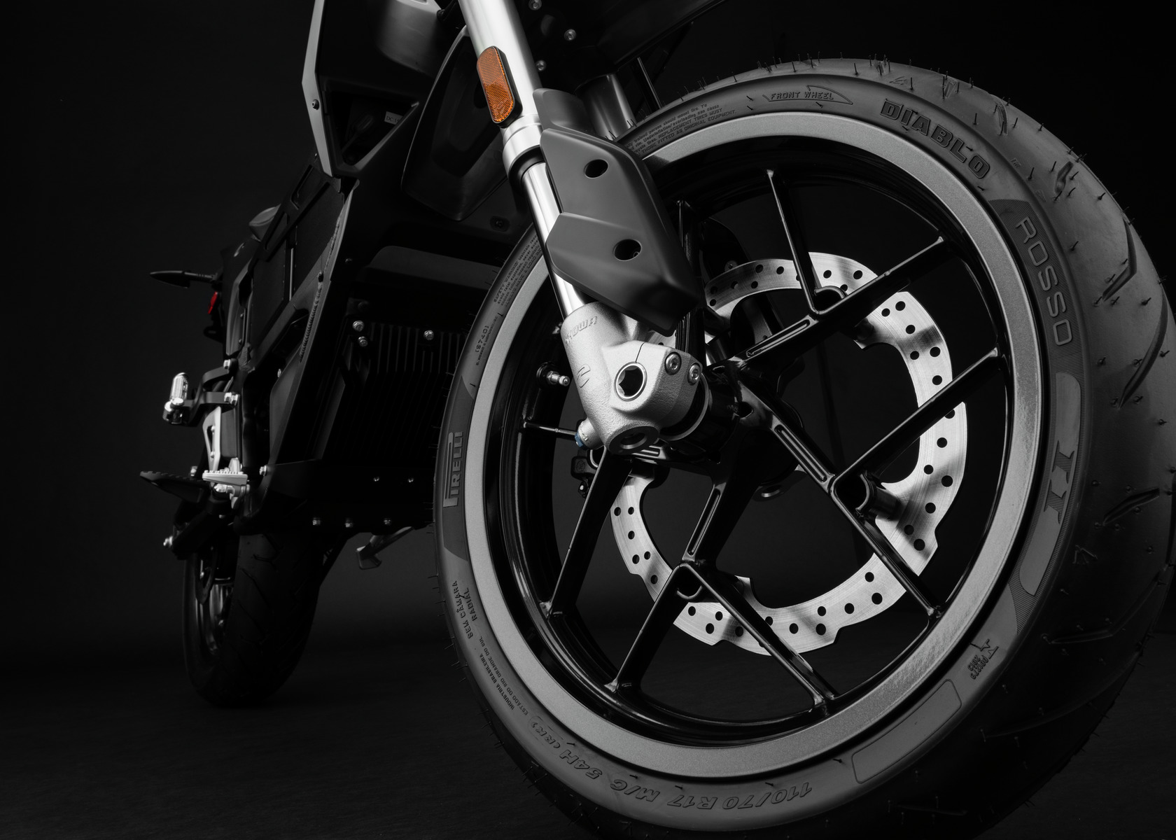 2018 Zero FXS Electric Motorcycle: Front Wheel