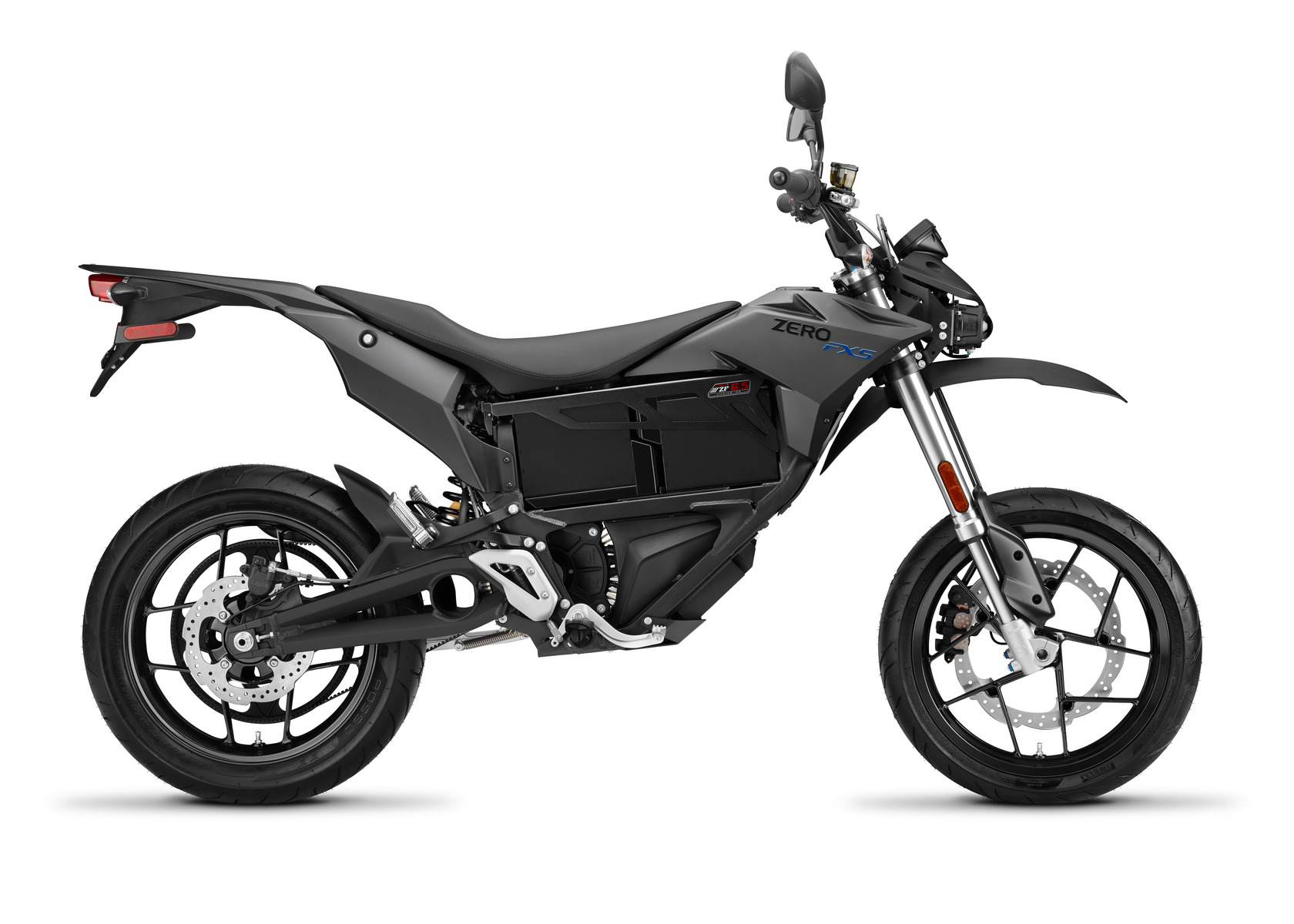 2016 Zero FXS Electric Motorcycle: Profile Right, White Background