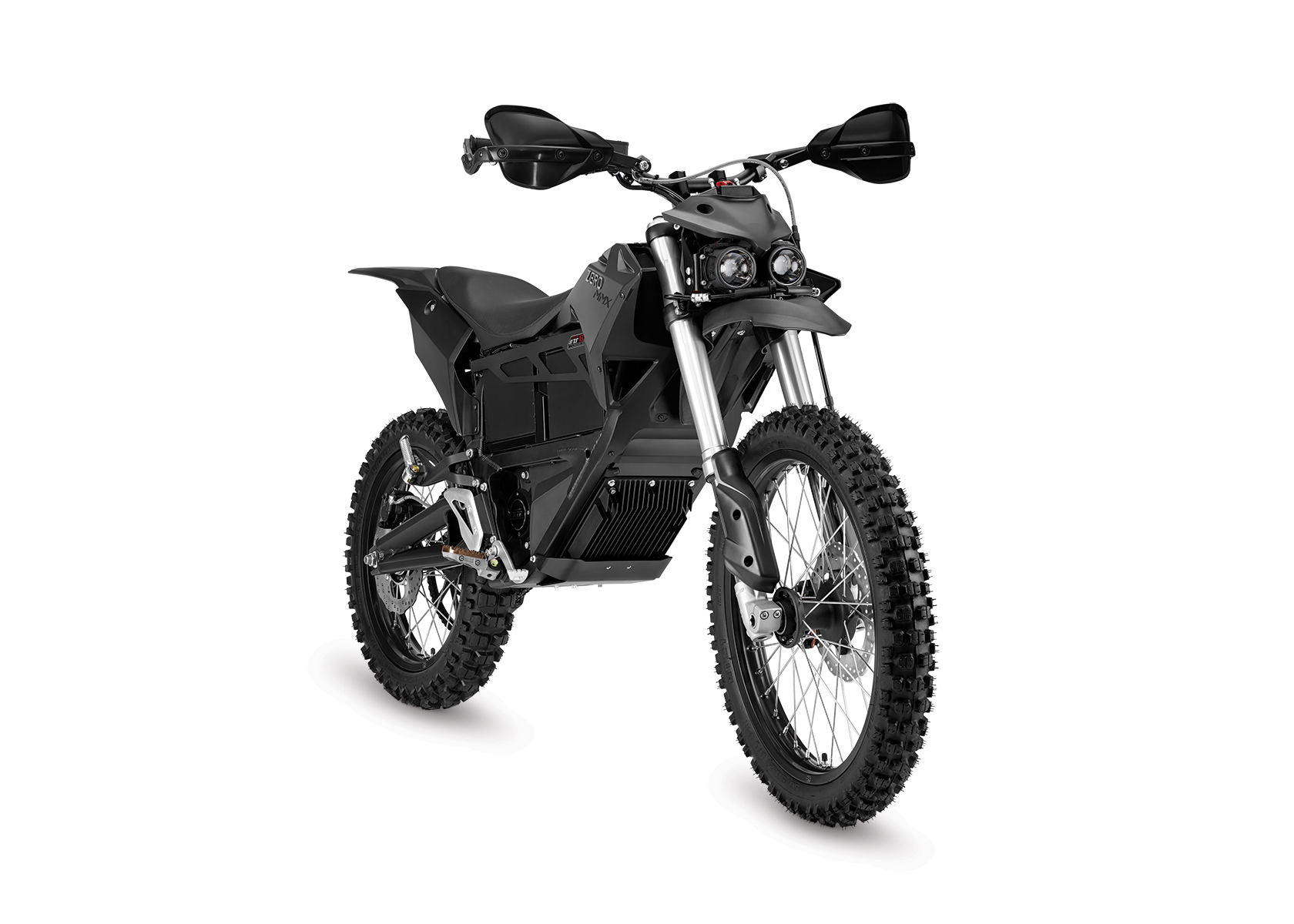 2016 Zero MMX Electric Motorcycle: Right Angle, White Background