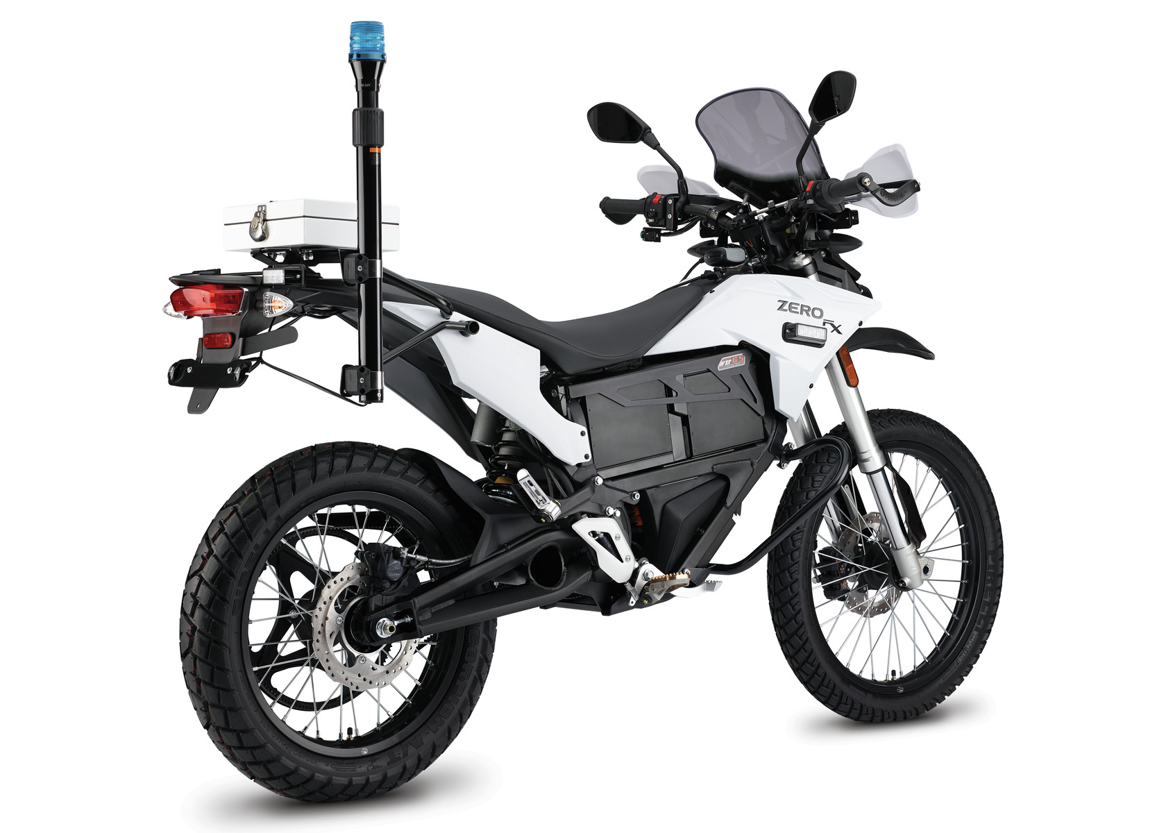 2016 Zero FXP Electric Motorcycle: Left Angle, White Background