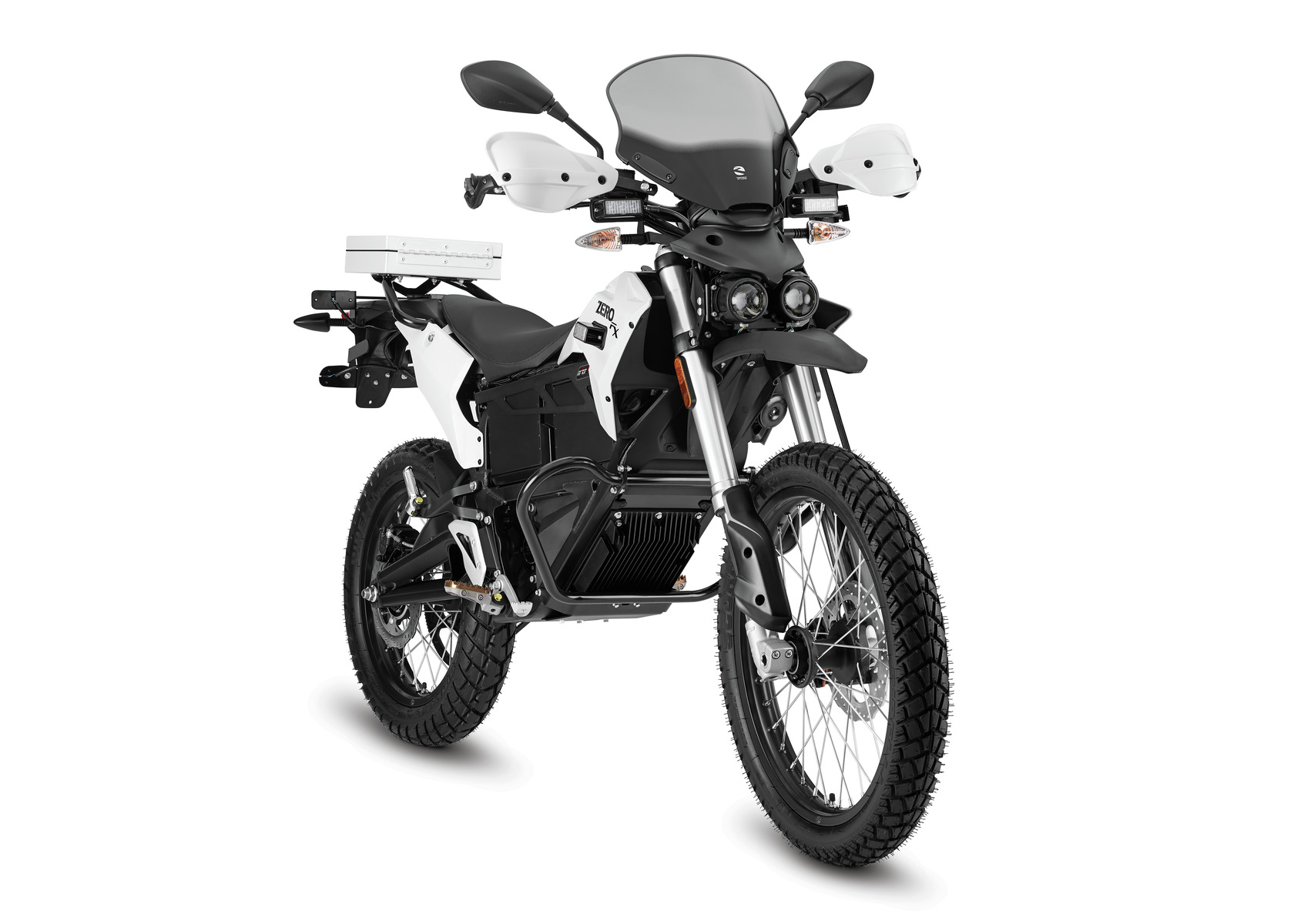 2016 Zero FXP Electric Motorcycle: Right Angle, White Background