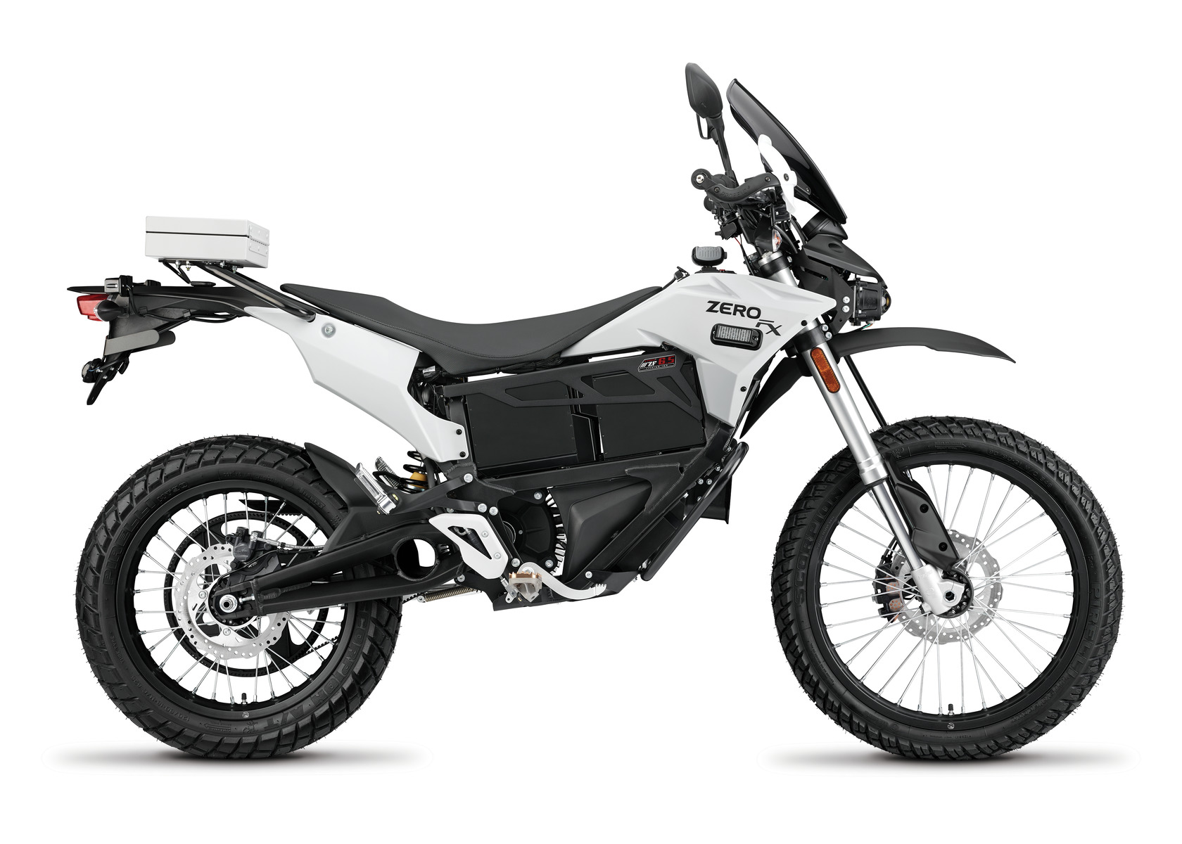 2016 Zero FXP Electric Motorcycle: Right Profile, White Background