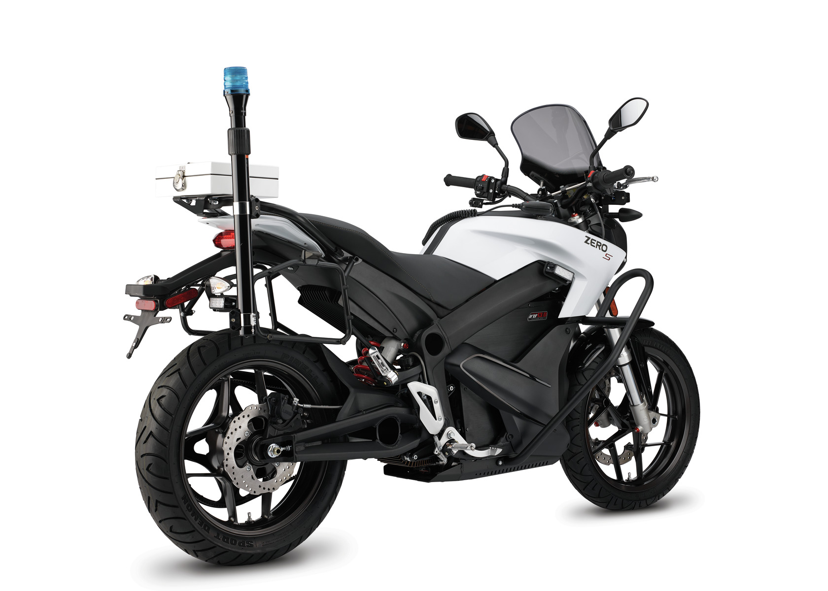 2016 Zero SP Electric Motorcycle: Left Angle, White Background