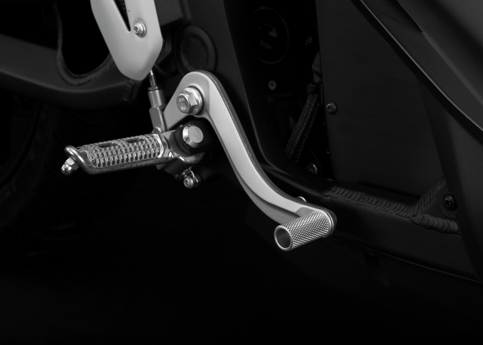2016 Zero SR Electric Motorcycle: Brake Pedal