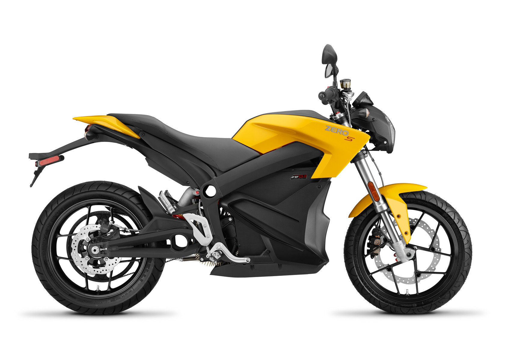 2016 Zero S Electric Motorcycle: Profile Right, White Background