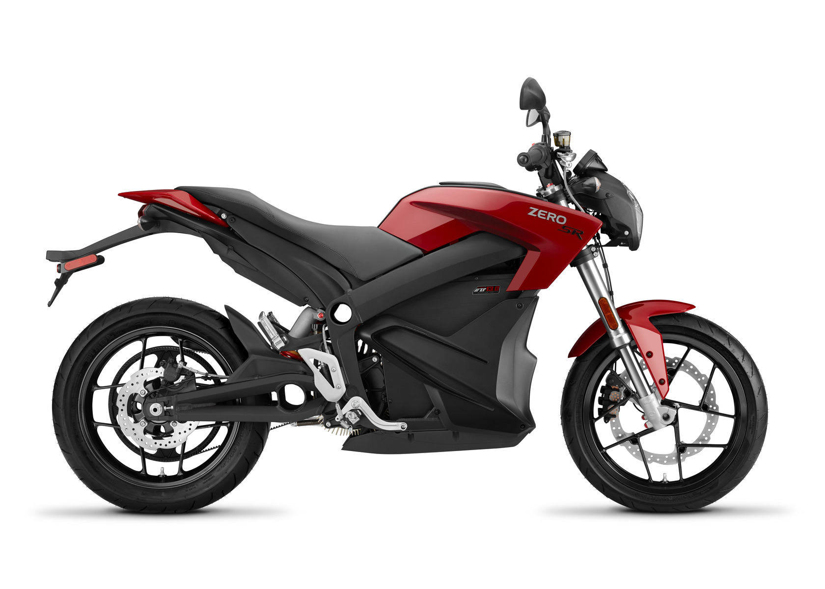 2016 Zero SR Electric Motorcycle: Profile Right, White Background