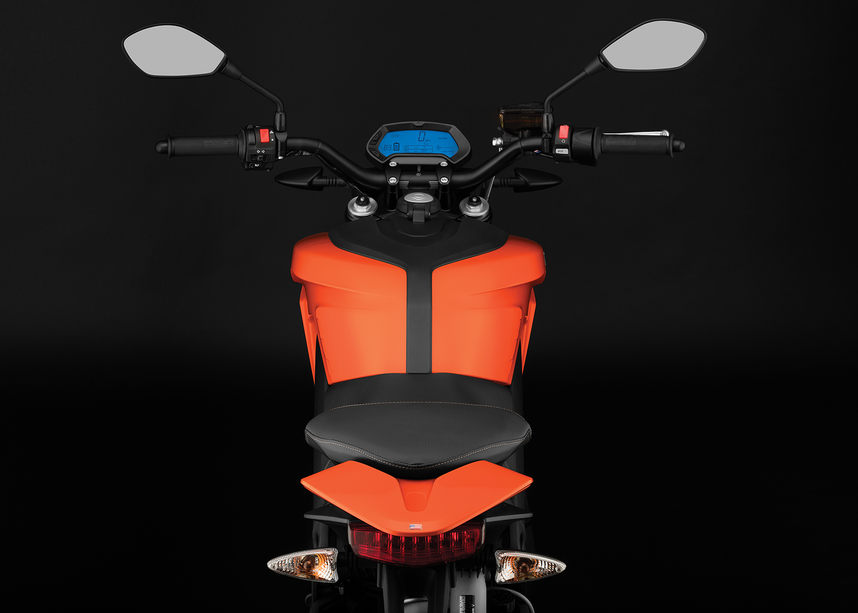 2017 Zero DS Electric Motorcycle: Rider View