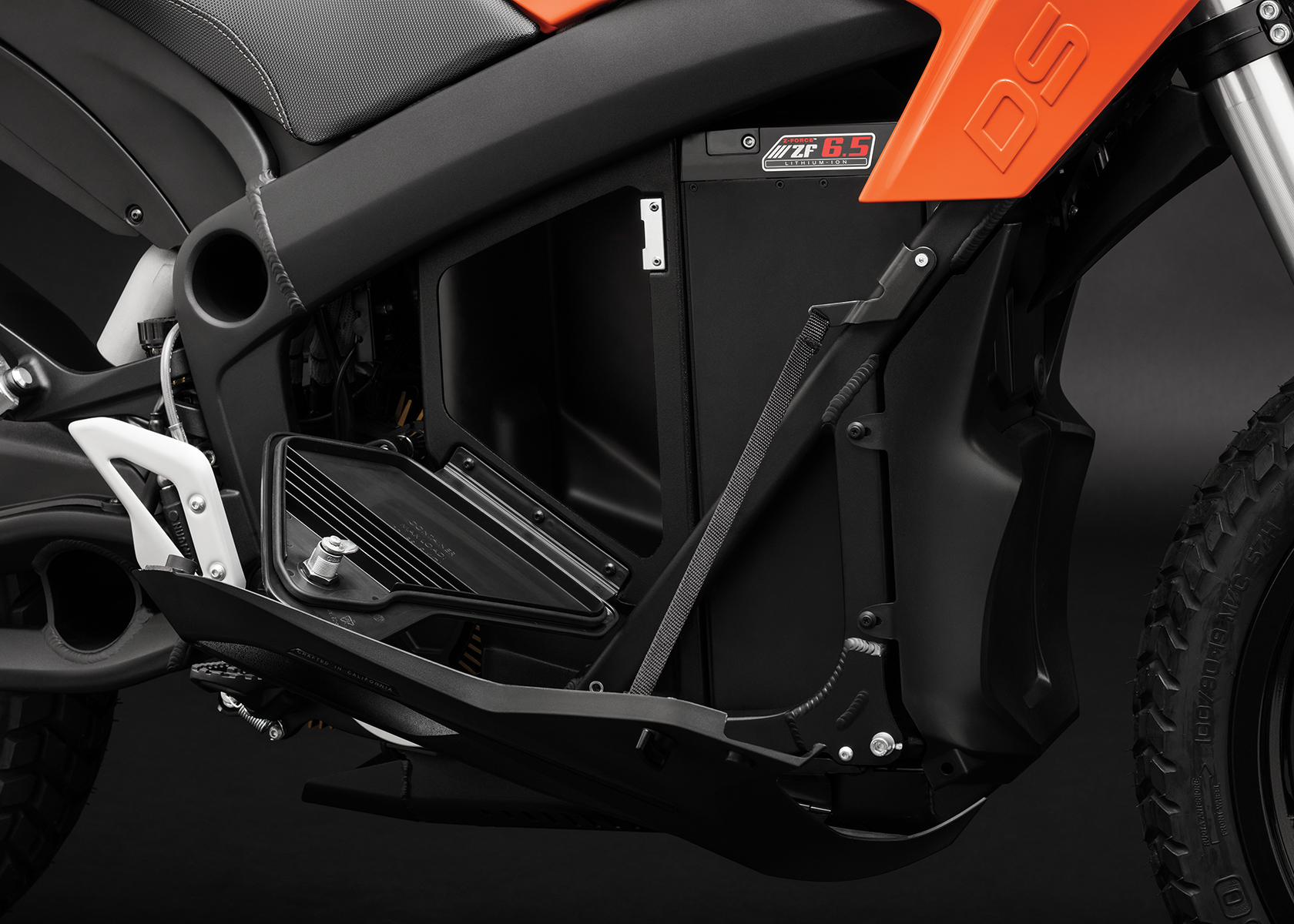 2017 Zero DS Electric Motorcycle: Storage Open
