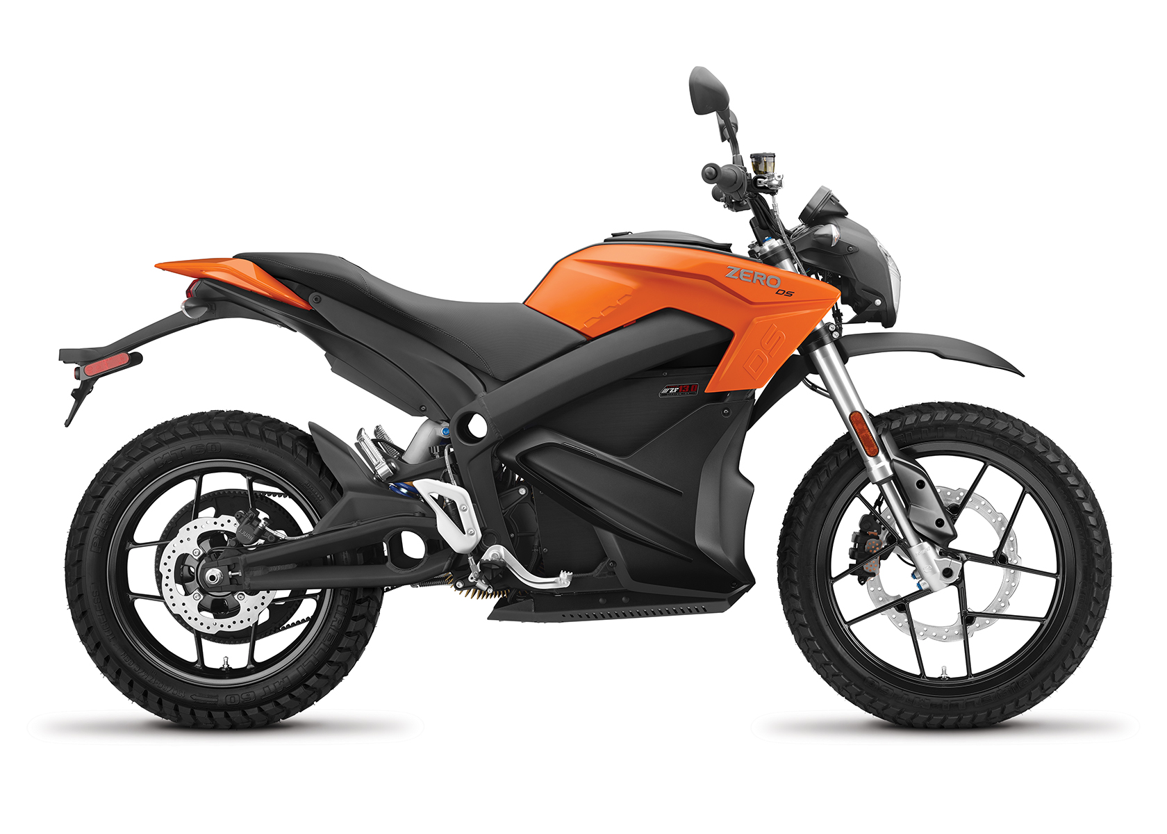 2017 Zero DS ZF13.0 Electric Motorcycle: Right Profile, white background