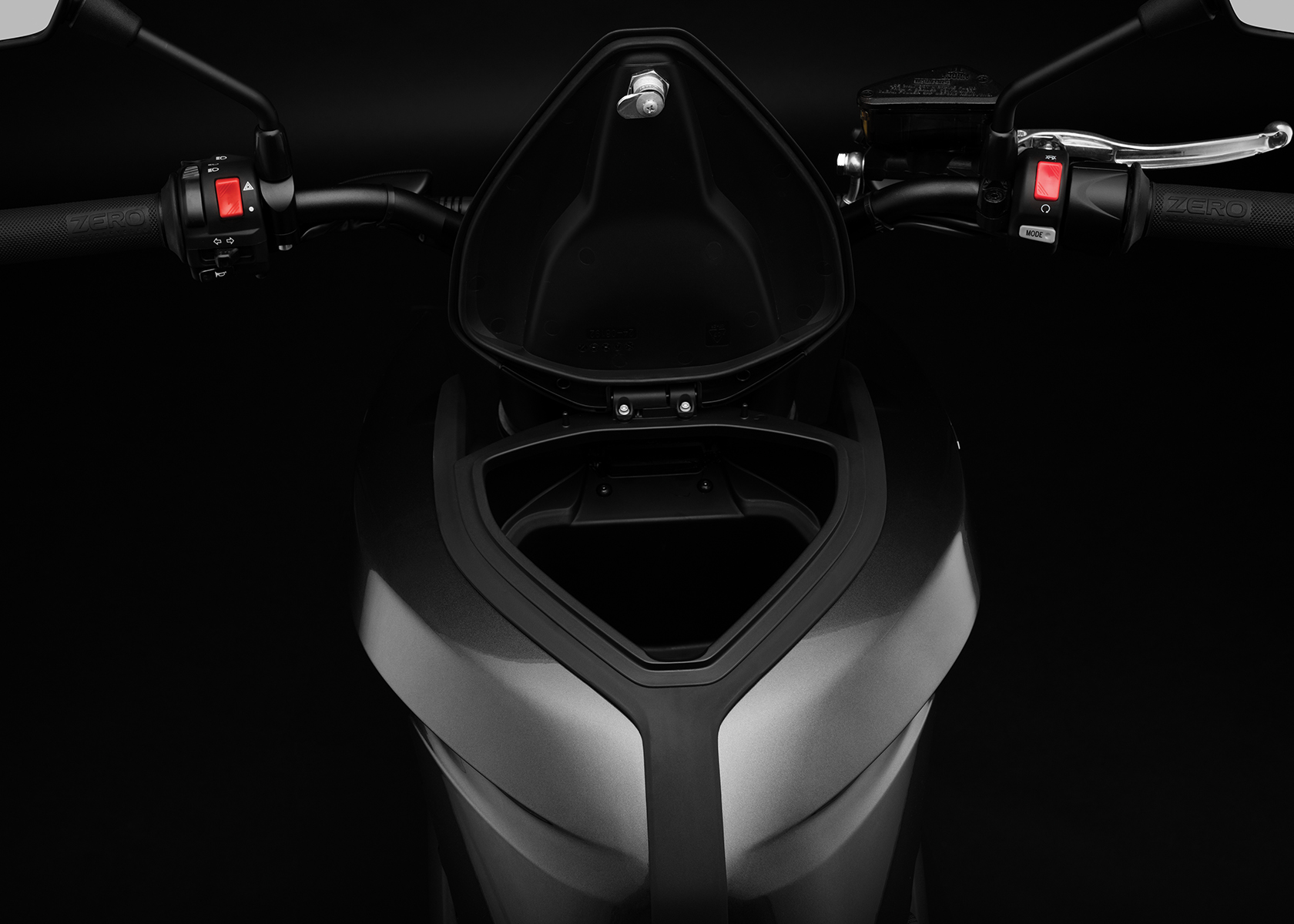 2017 Zero DSR Electric Motorcycle: Tank Storage,open