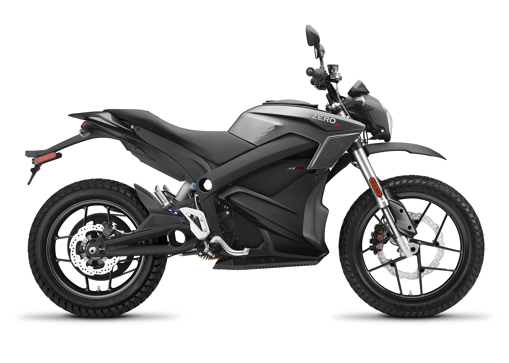 2017 Zero DSR Electric Motorcycle: Profile Right, White Background