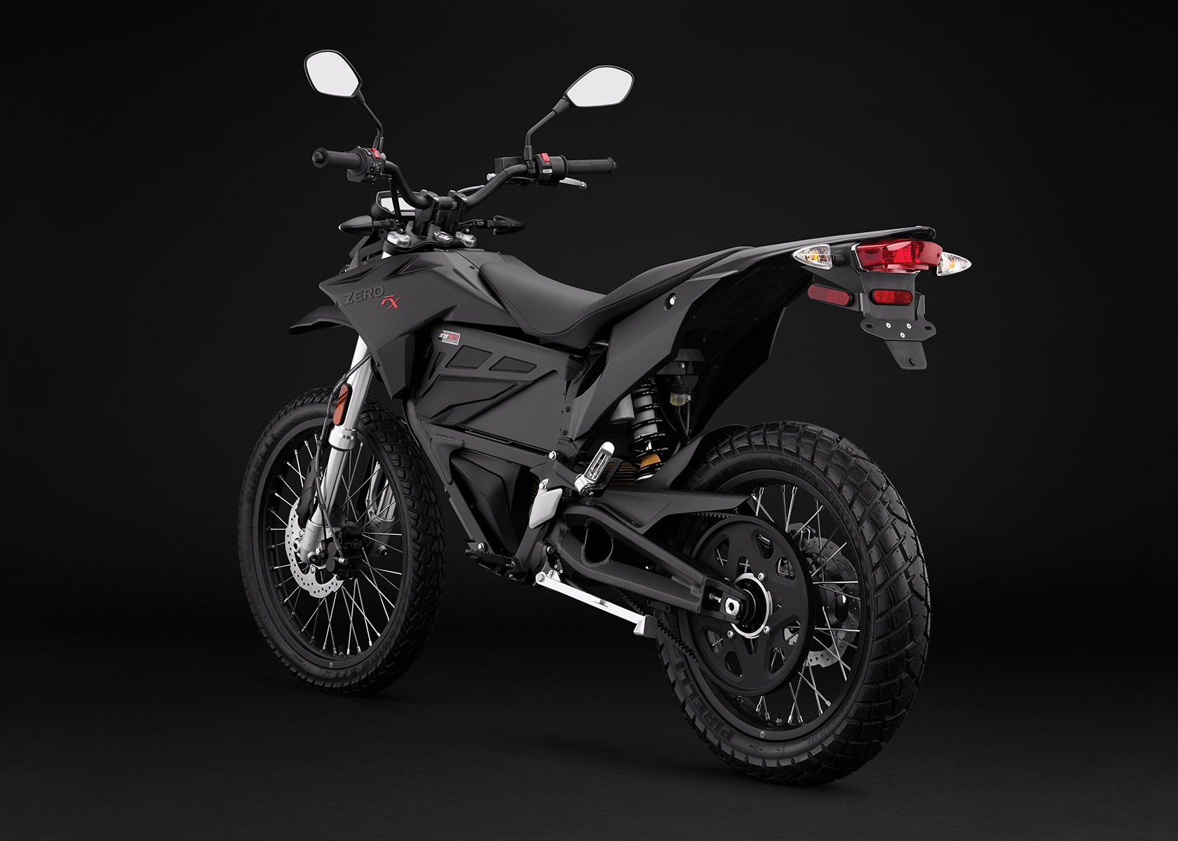 2017 Zero FX Electric Motorcycle: Black Angle Left