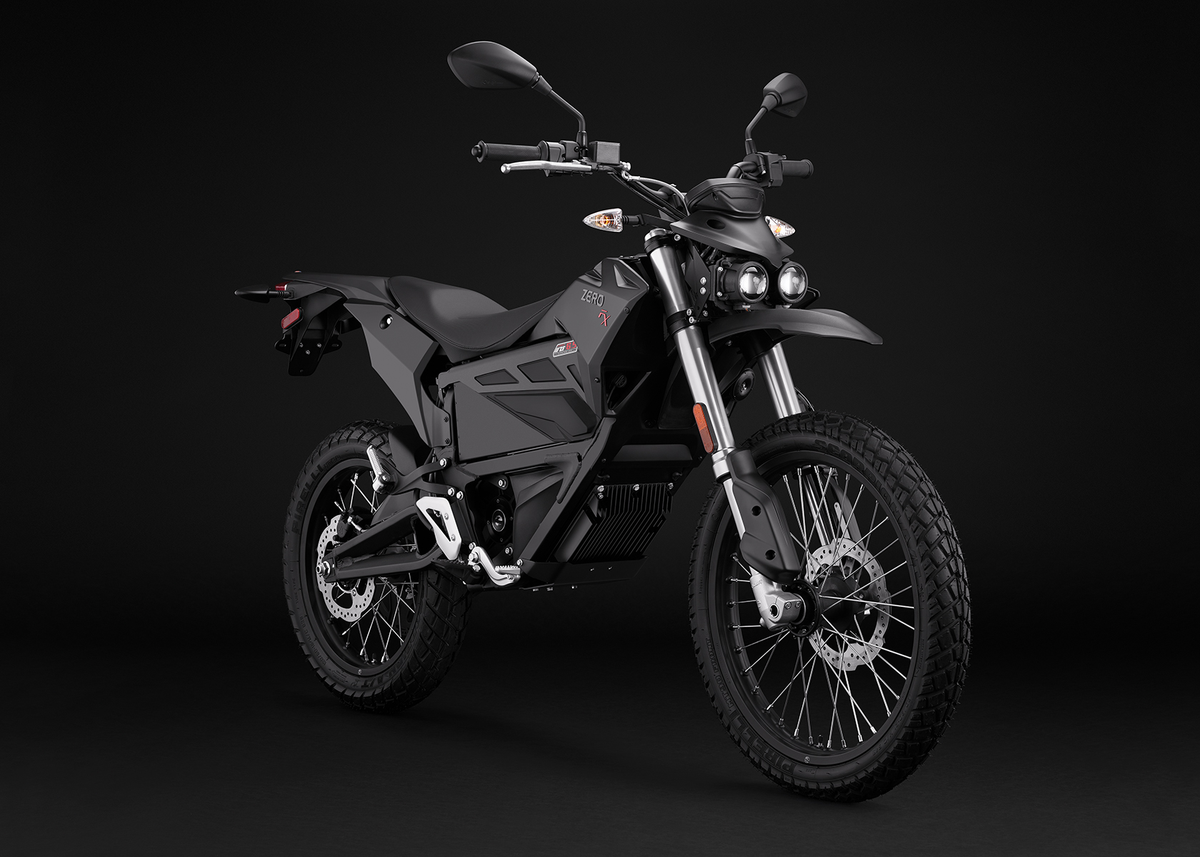 2017 Zero FX Electric Motorcycle: Black Angle Right