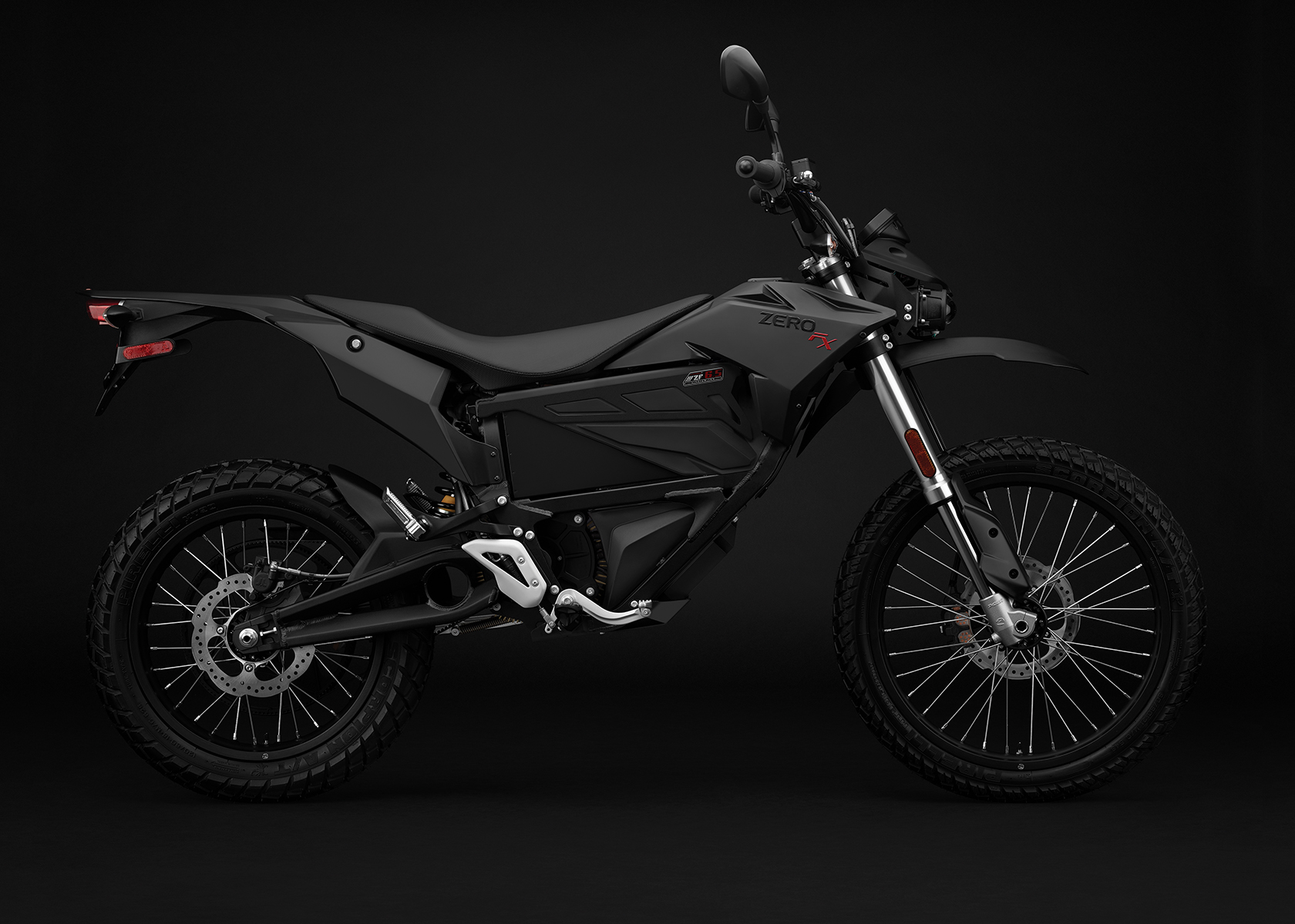 2017 Zero FX Electric Motorcycle: Black Profile Right