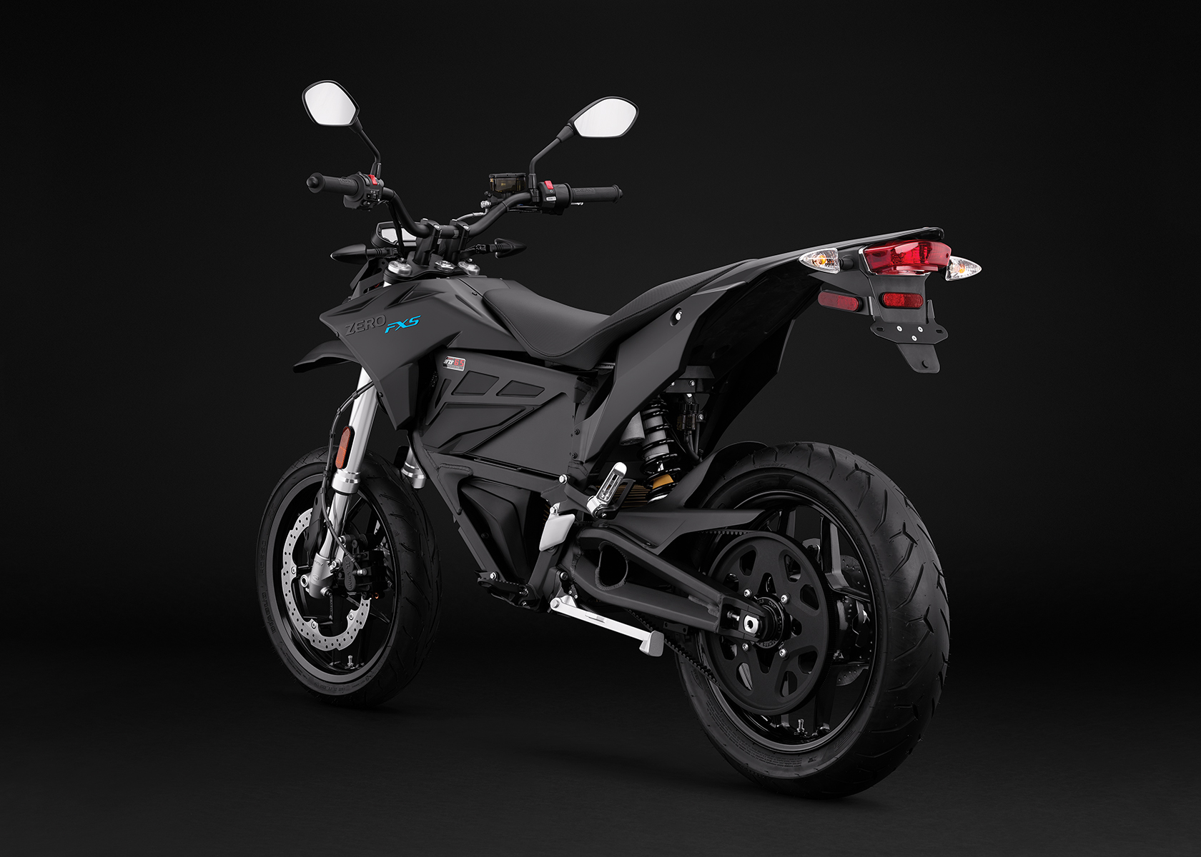 2017 Zero FXS Electric Motorcycle: Angle Left