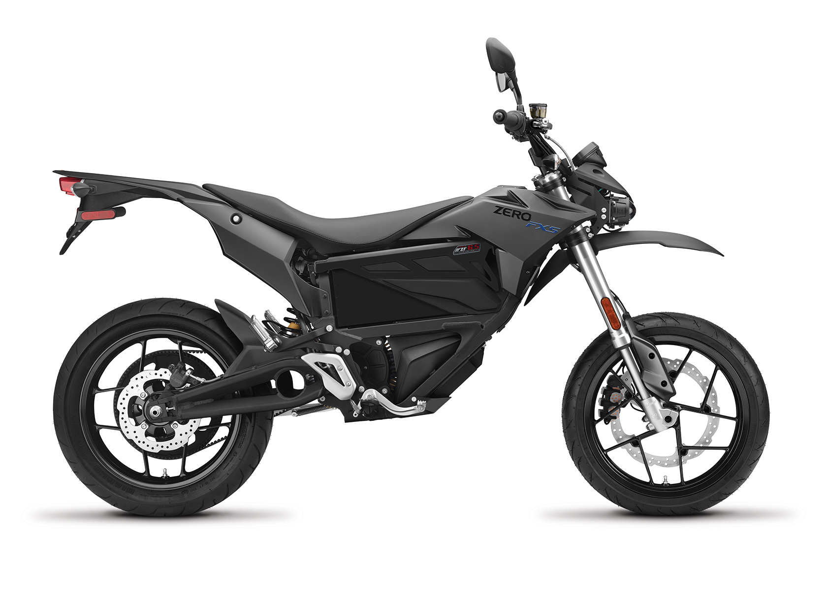 2017 Zero FXS Electric Motorcycle: Profile Right, White Background