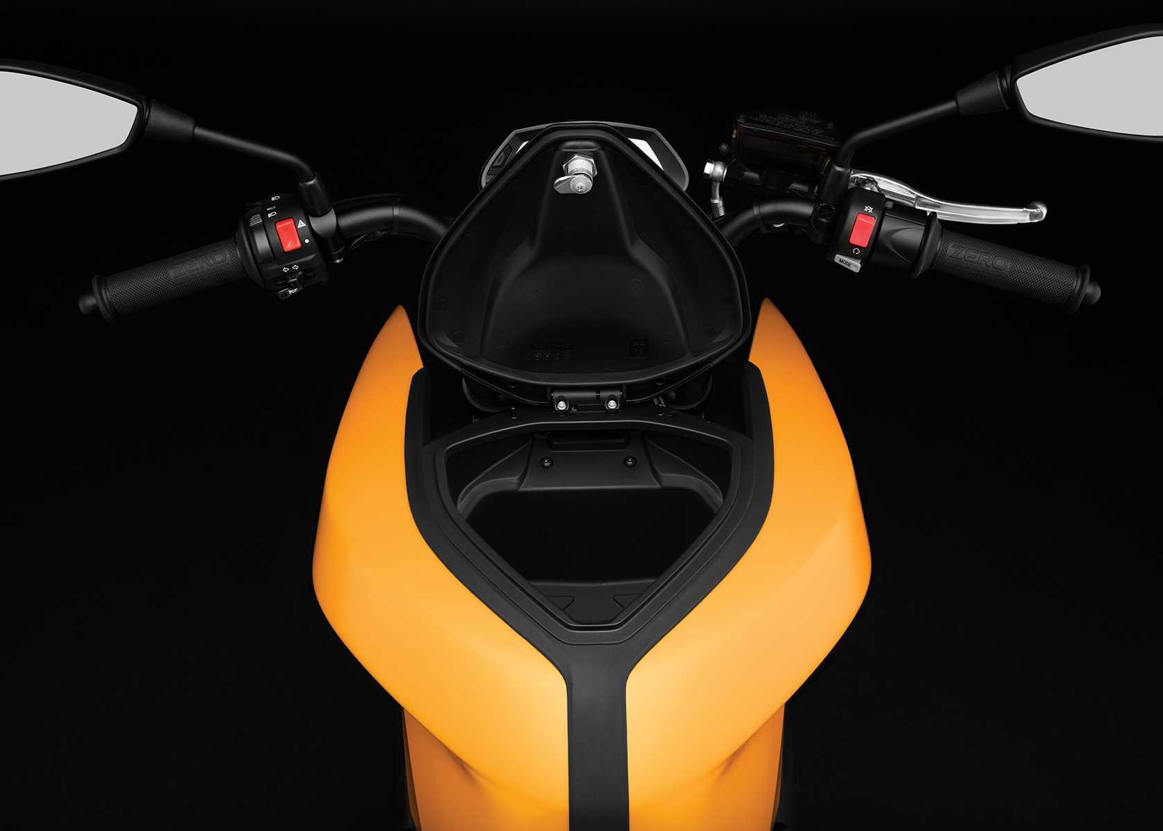 2017 Zero S ZF6.5 Electric Motorcycle: Tank Storage, open