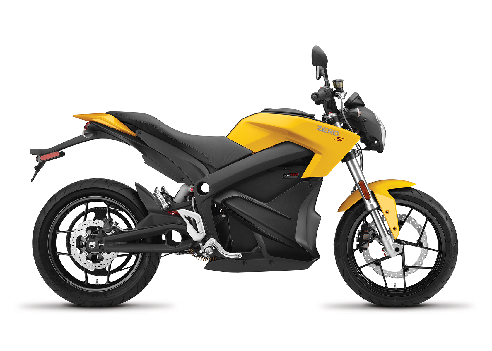 2017 Zero S ZF13.0 Electric Motorcycle: Profile Right, White Background