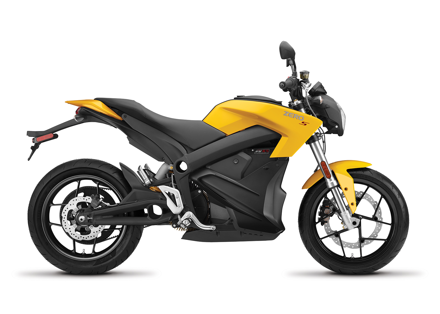 2017 Zero S ZF6.5 Electric Motorcycle: Profile Right, White Background