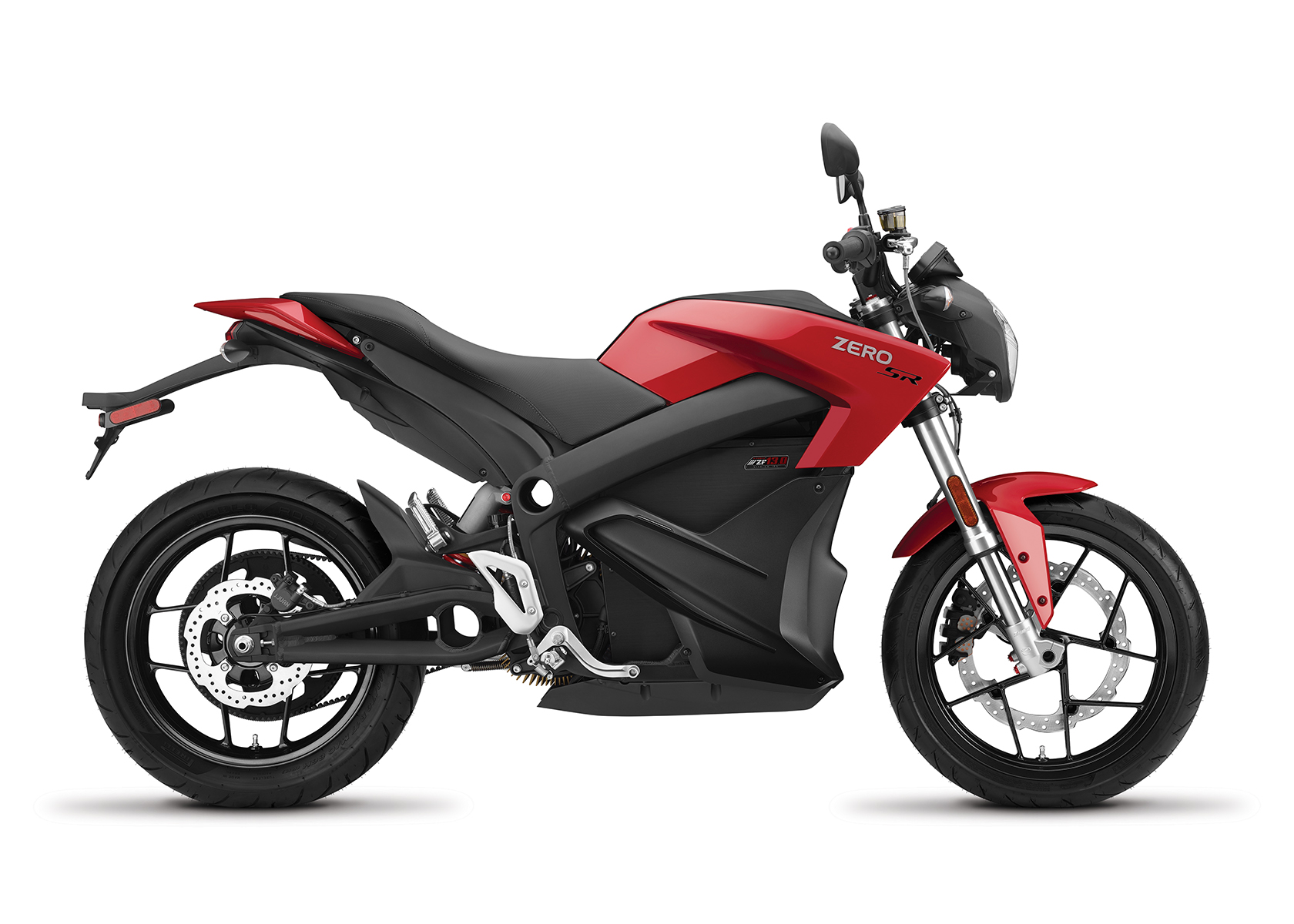 2017 Zero SR Electric Motorcycle: Profile Right, White Background