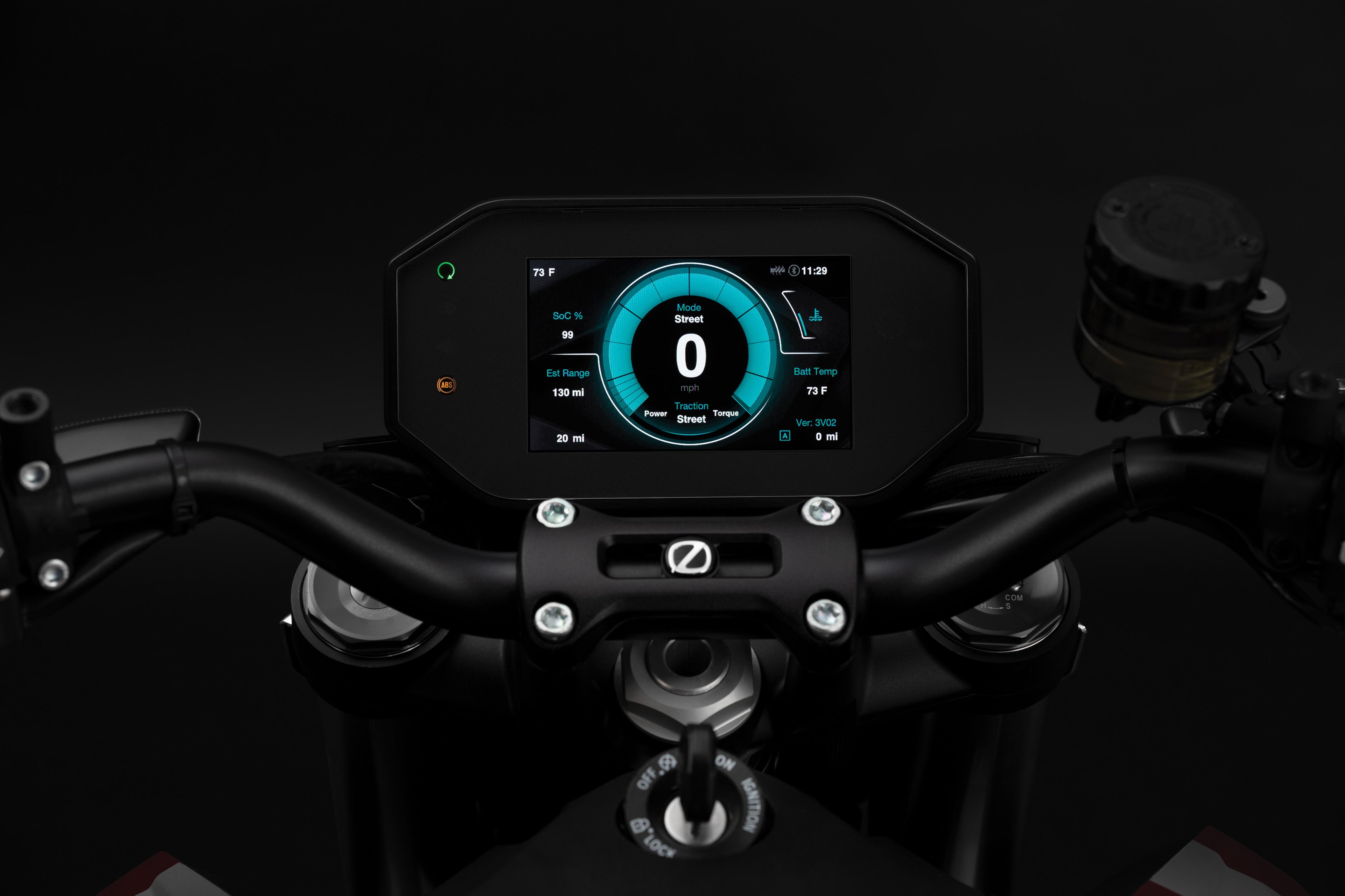 2020 Zero SR/F Electric Motorcycle: Dash